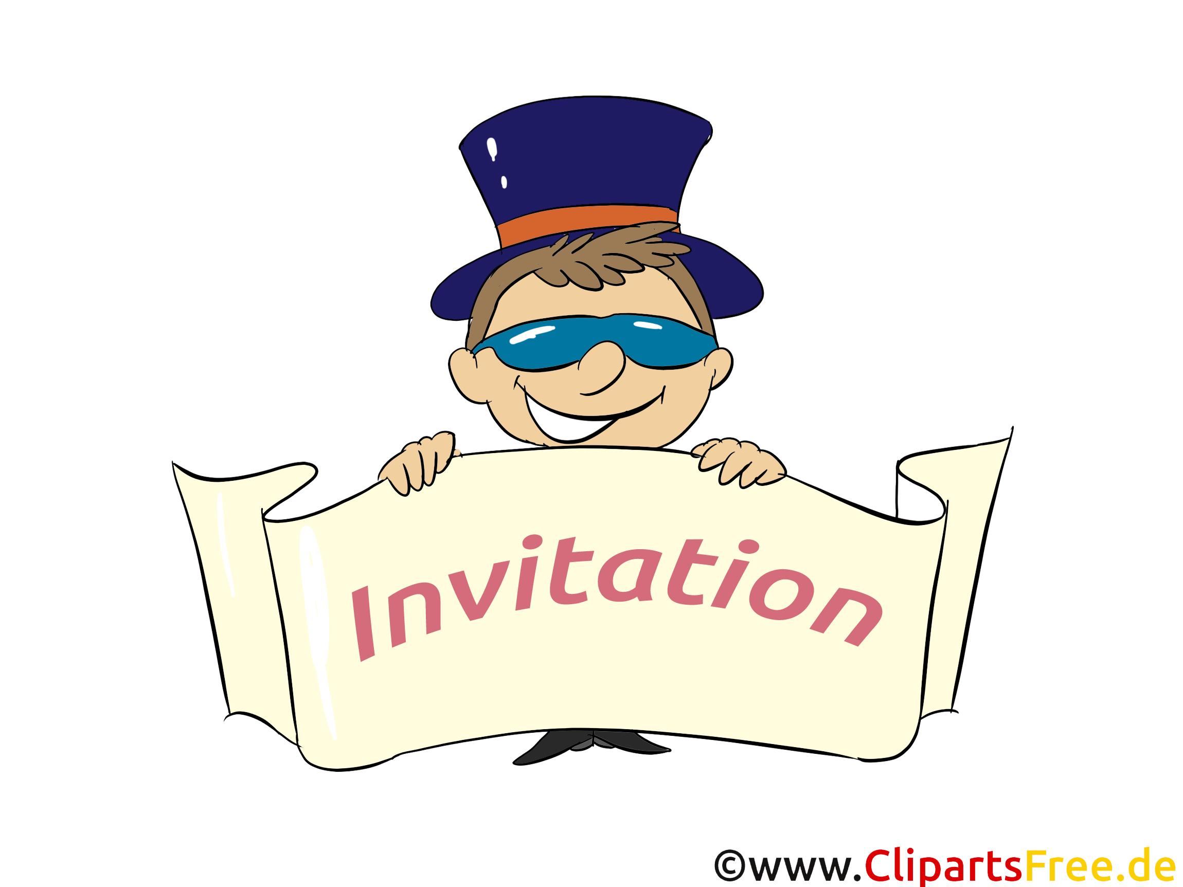 Garçon Invitation illustration à télécharger gratuite
