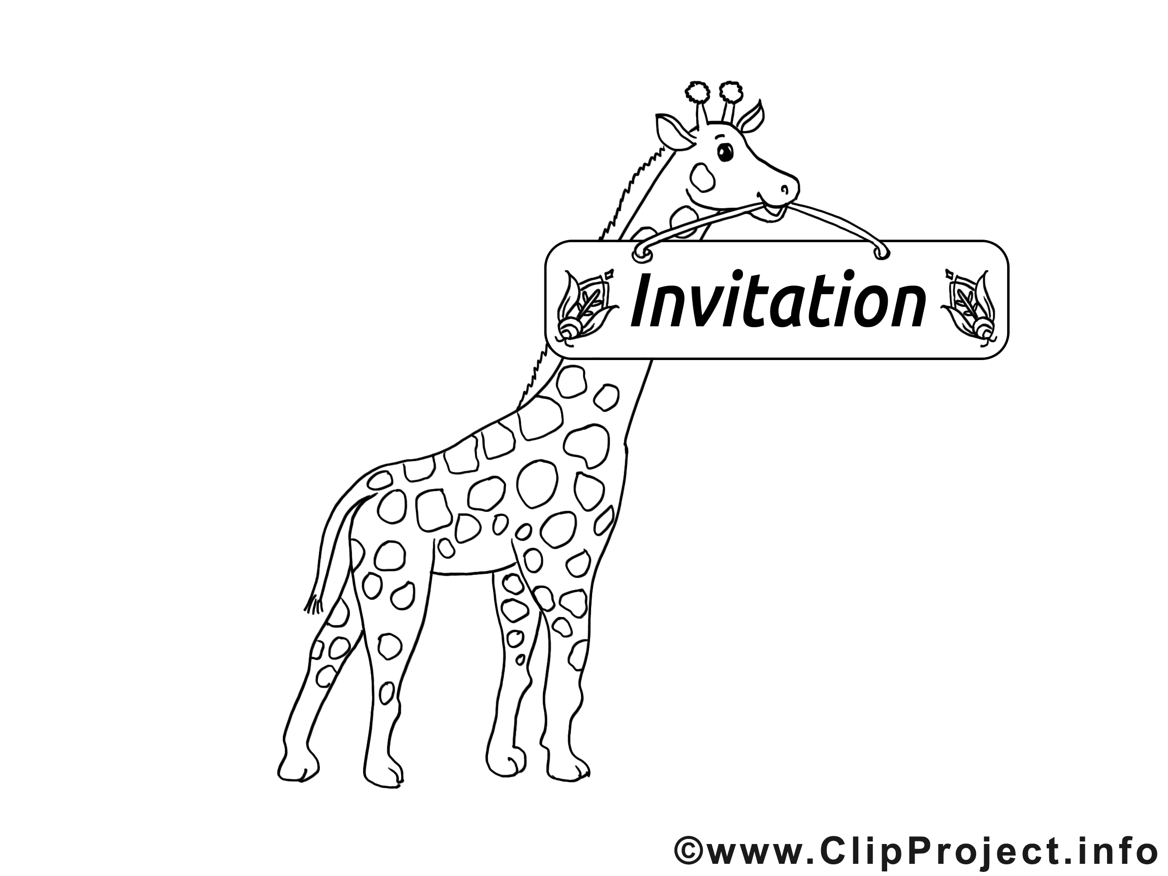 Girafe images à colorier - Invitation dessins gratuits