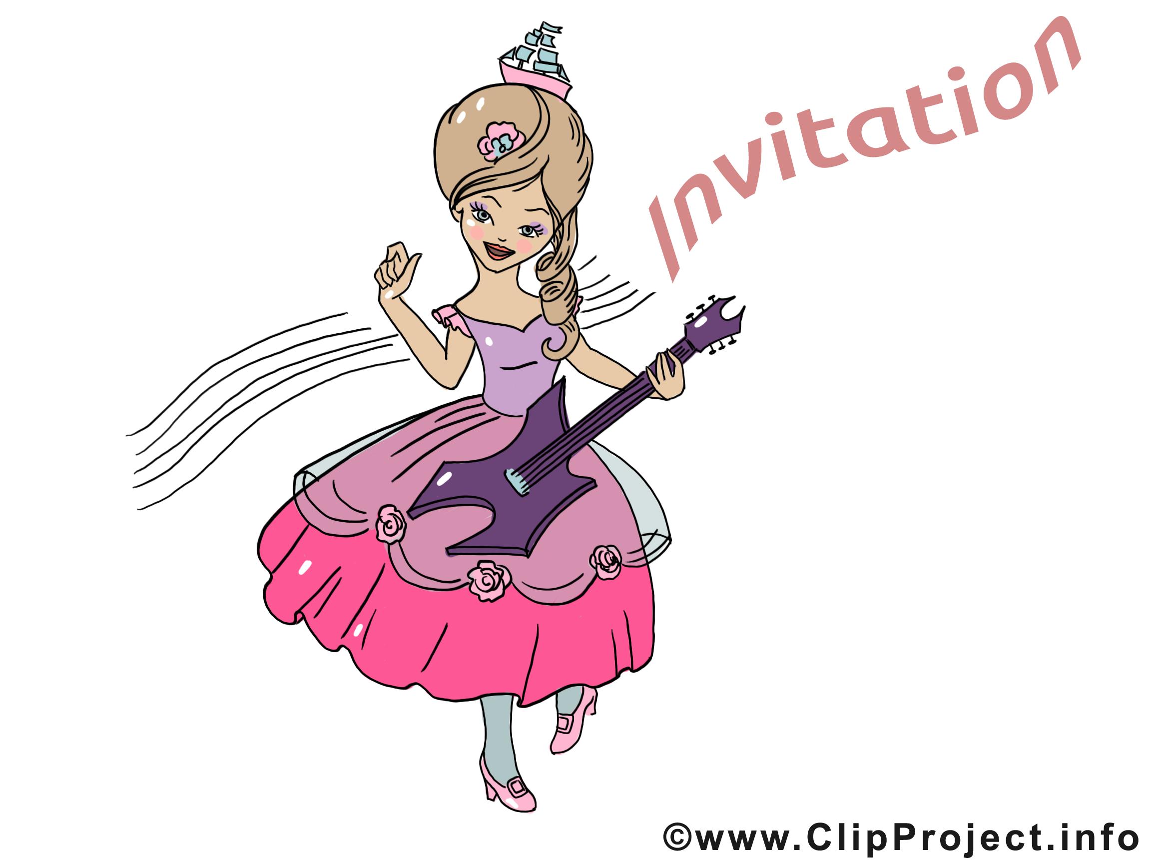 Guitariste image à télécharger - Invitation clipart