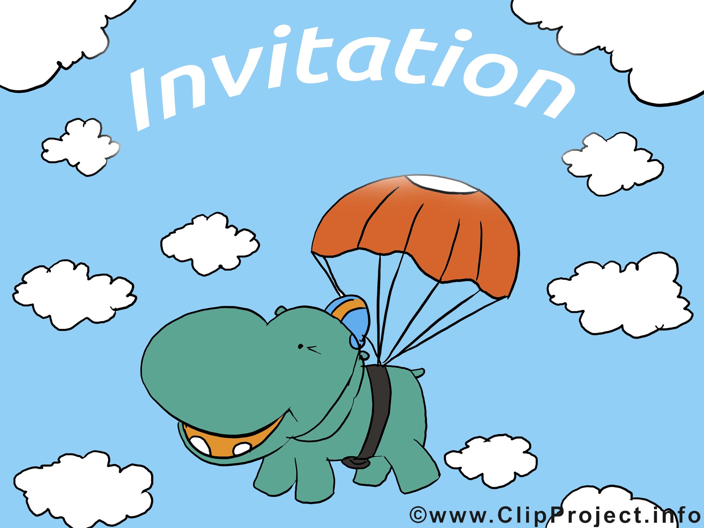 Hippopotame illustration - Invitation images