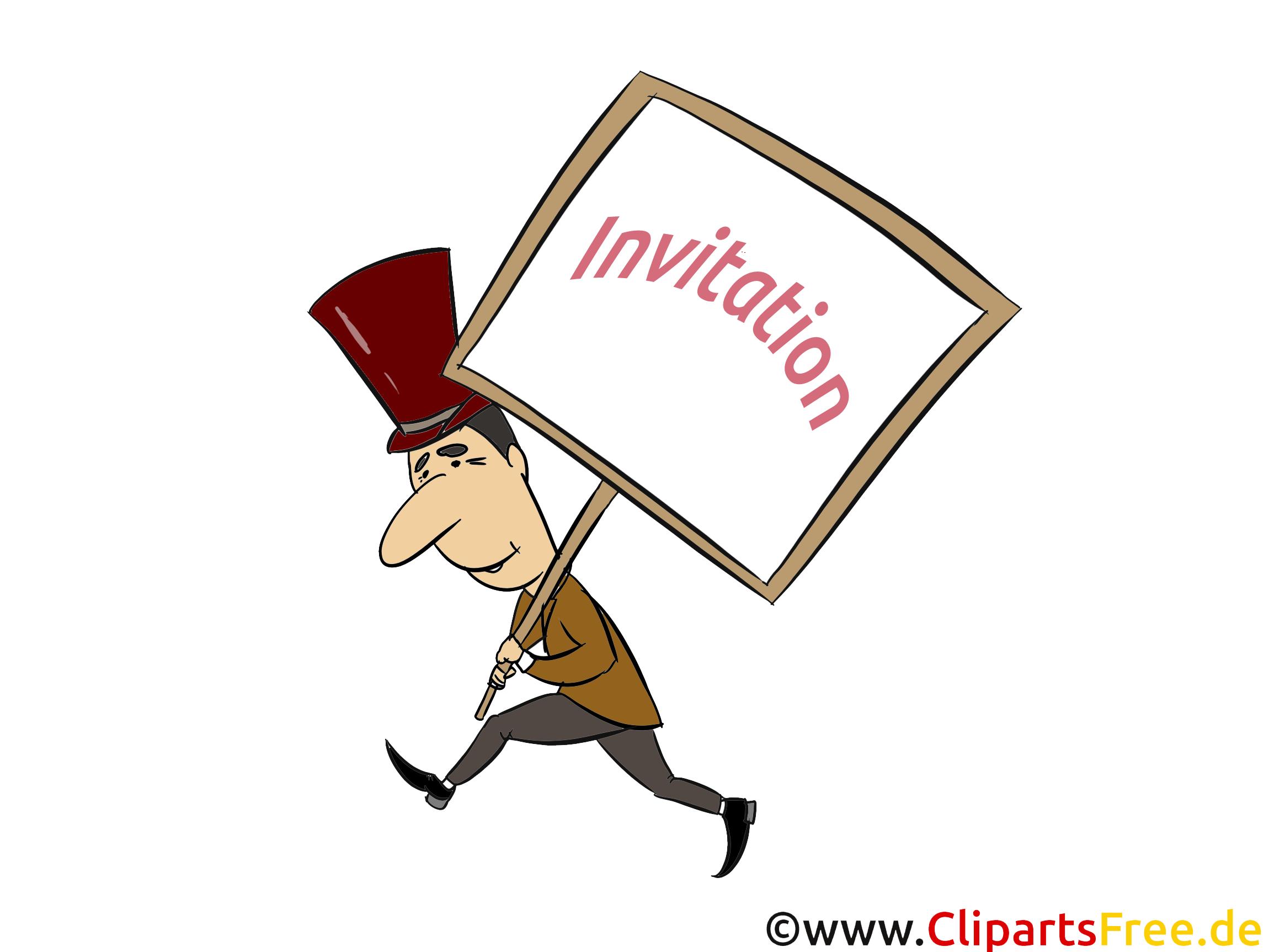 Homme dessin - Invitation cliparts à télécharger
