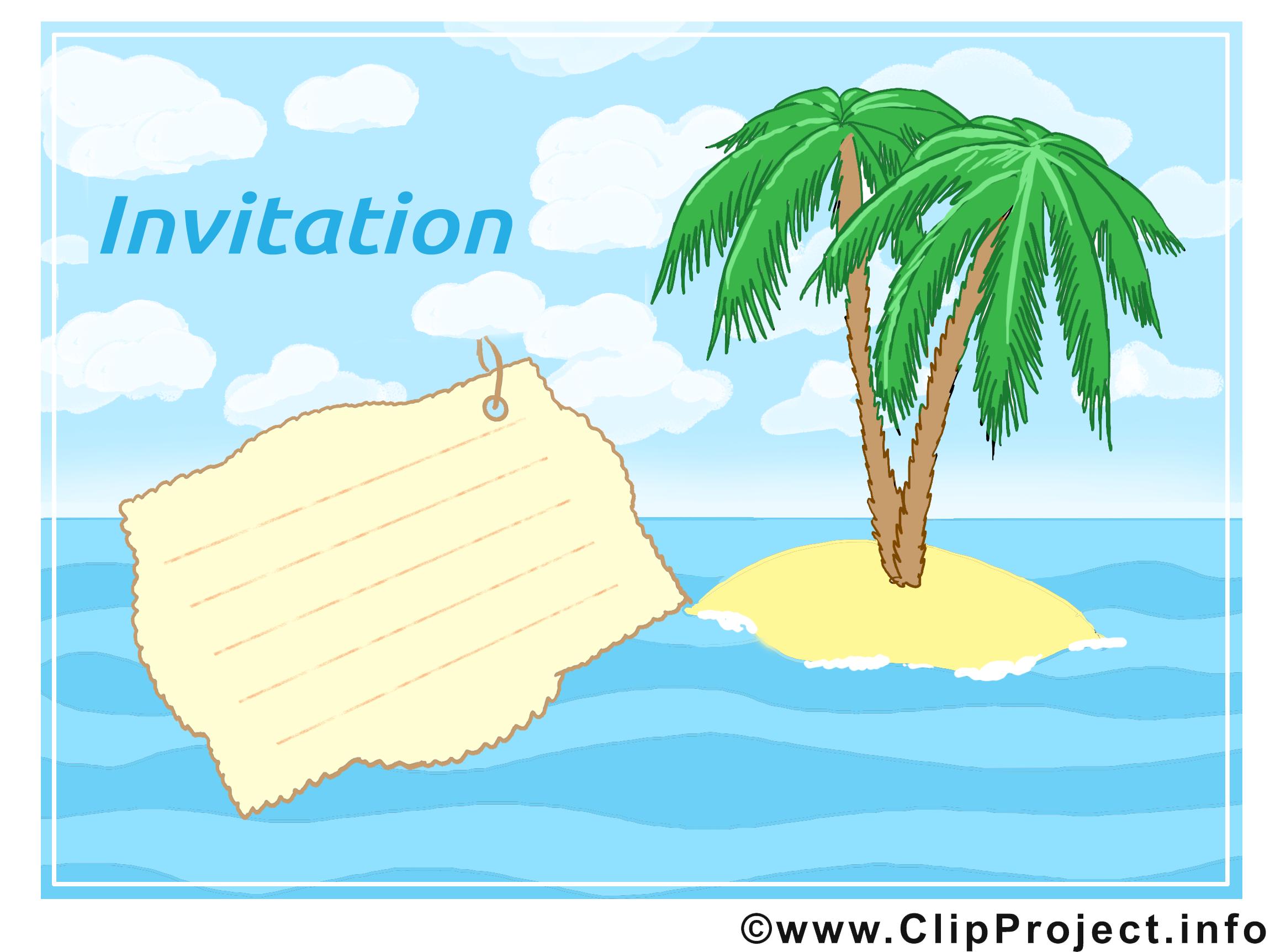 île clip art gratuit – Invitation images