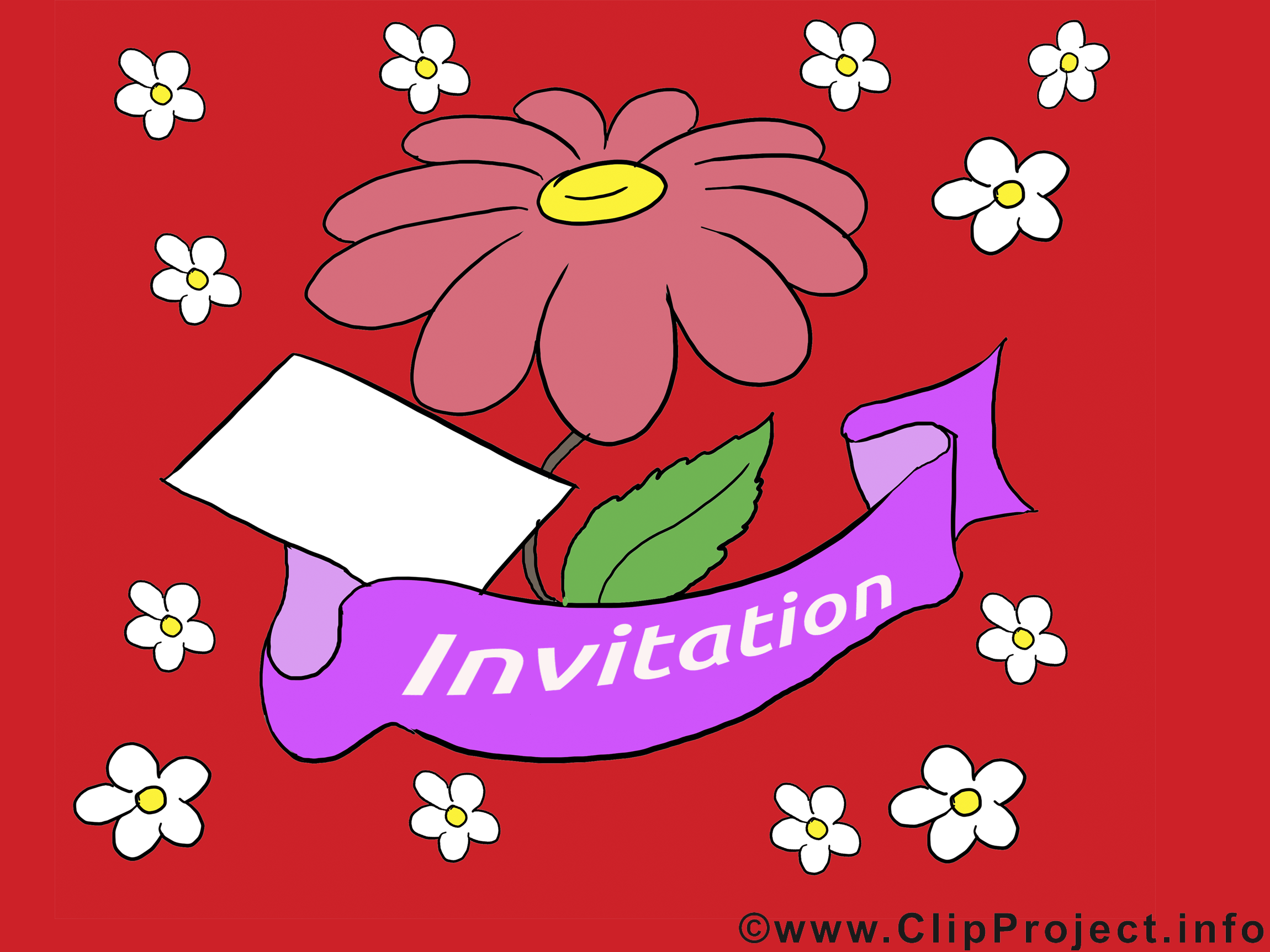 Illustration gratuite fleur - Invitation clipart
