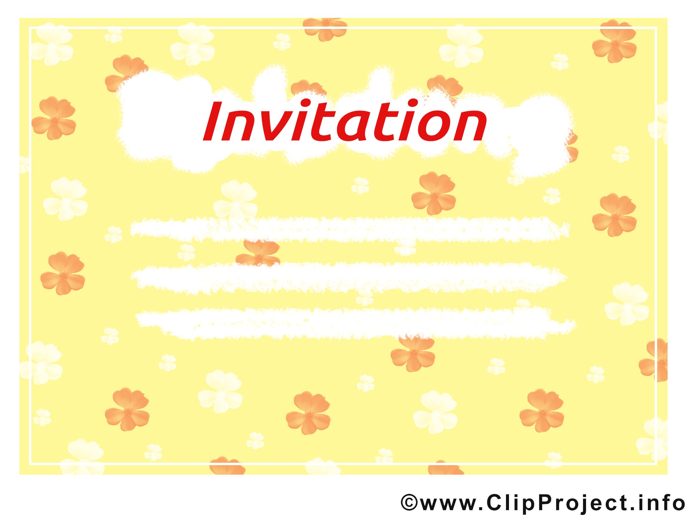 Image gratuite Invitation clipart