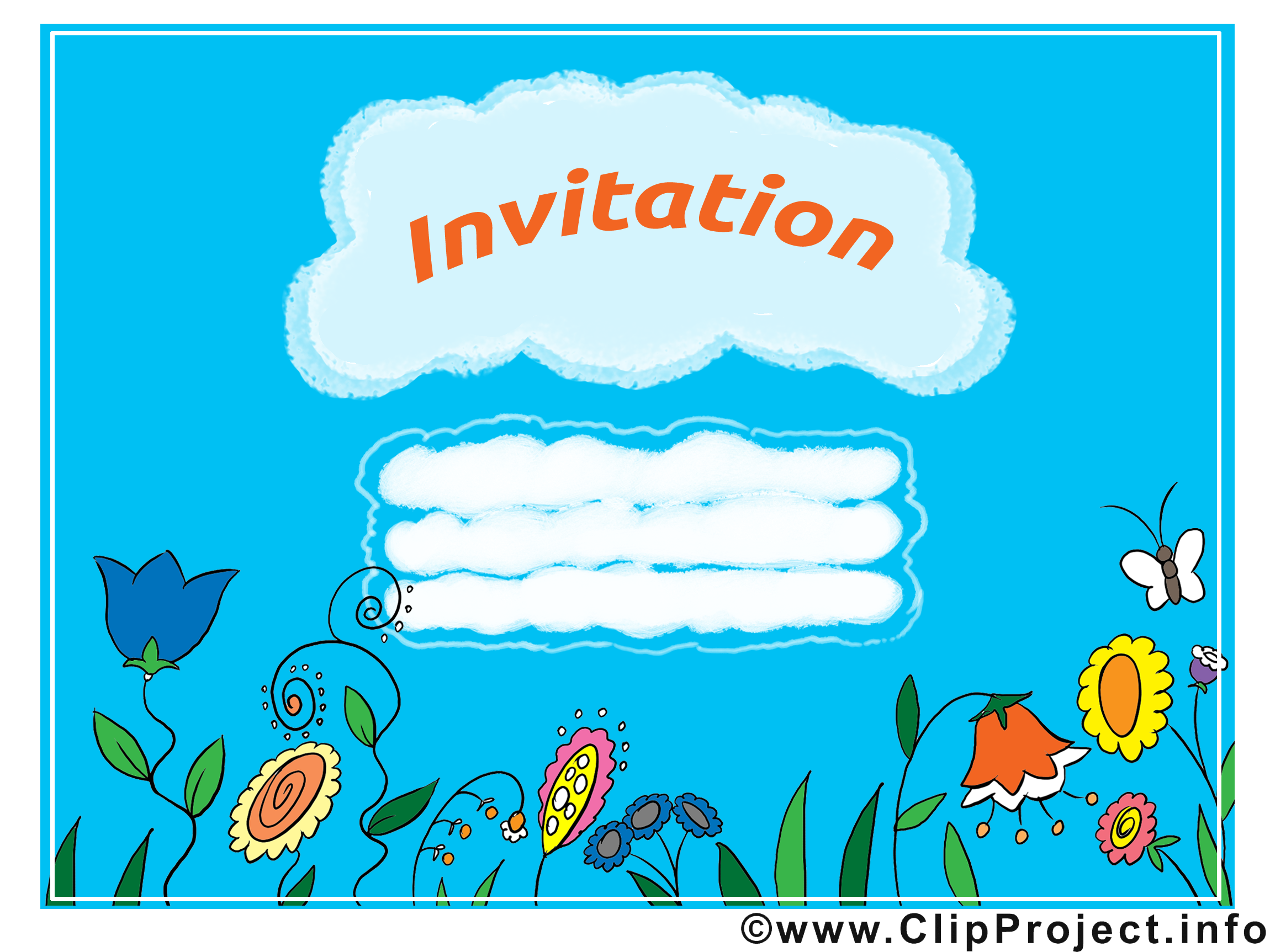Image invitation - Fleurs images cliparts