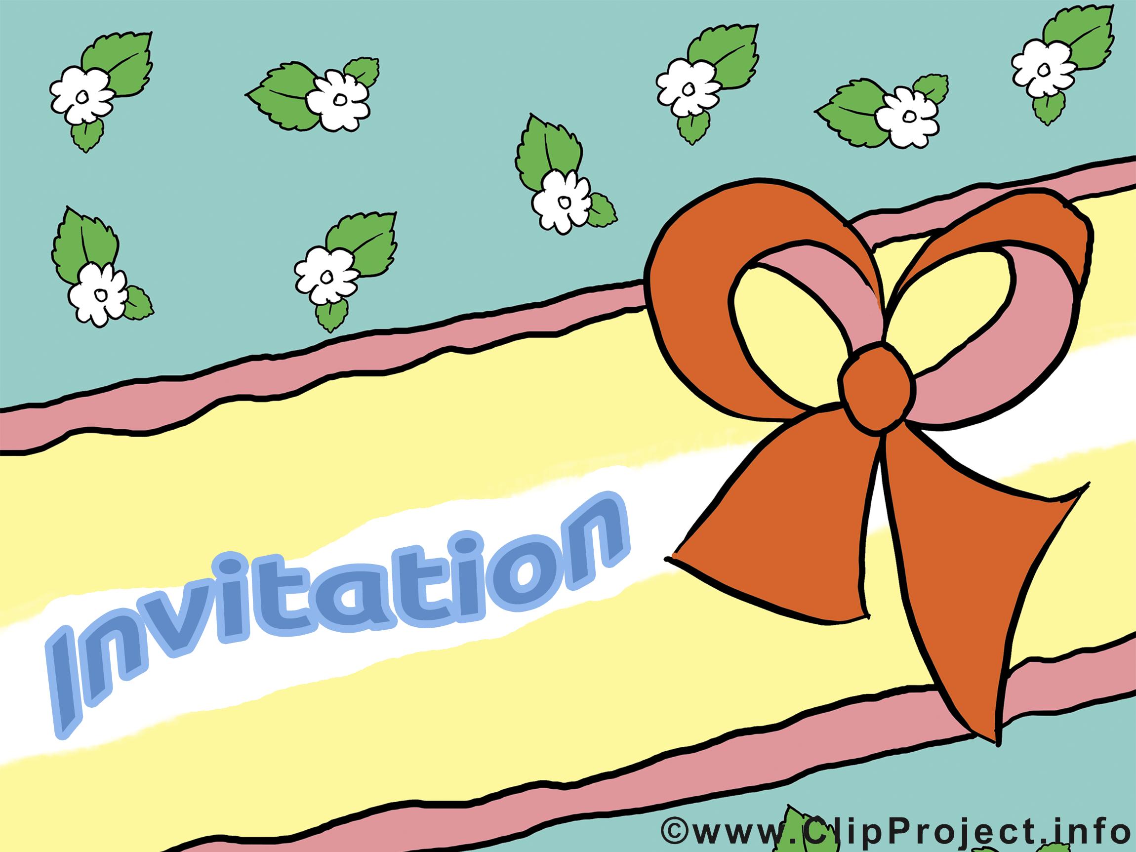 Invitation dessin clip arts gratuits