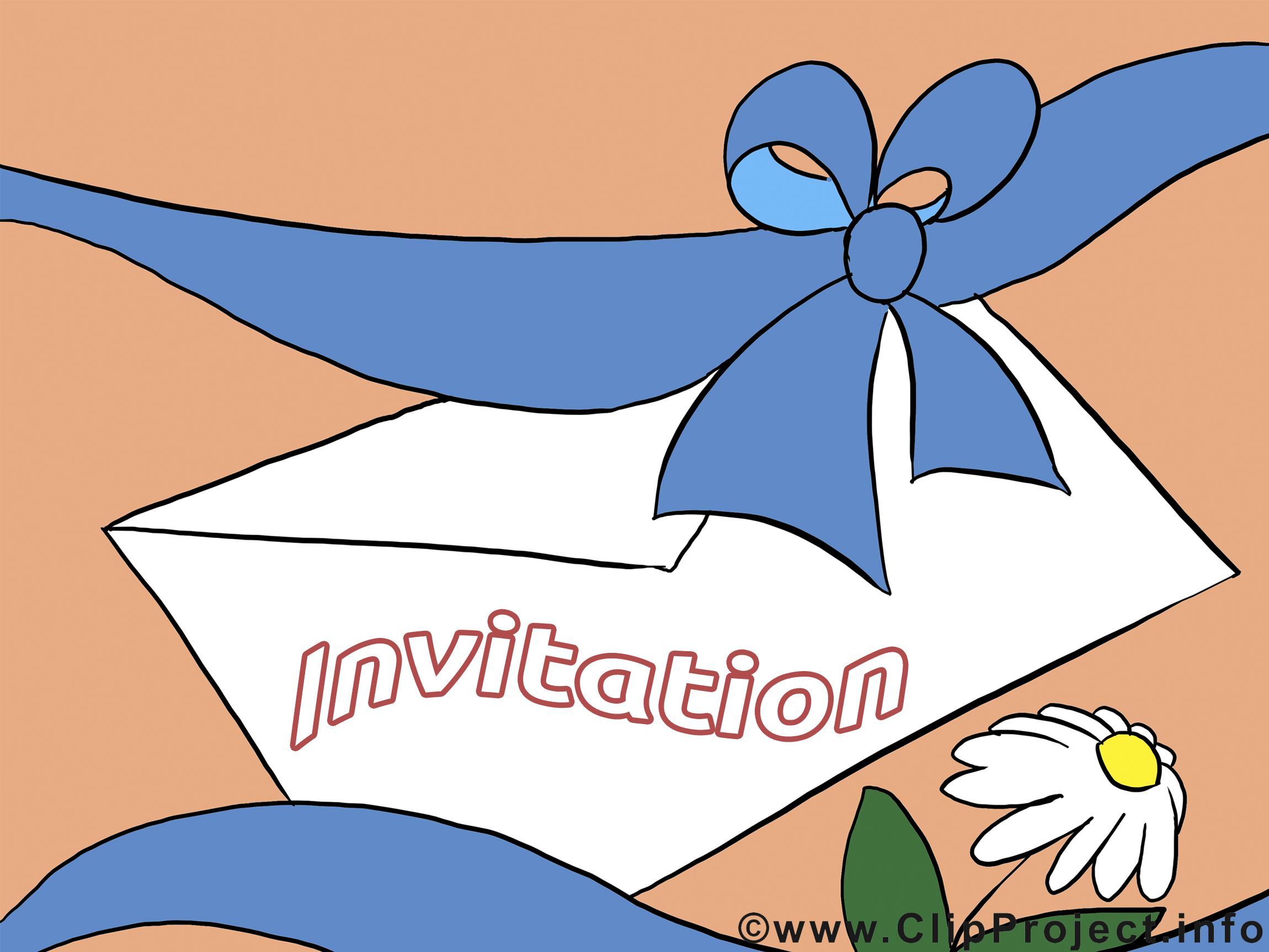 Lettre invitation illustration à télécharger gratuite