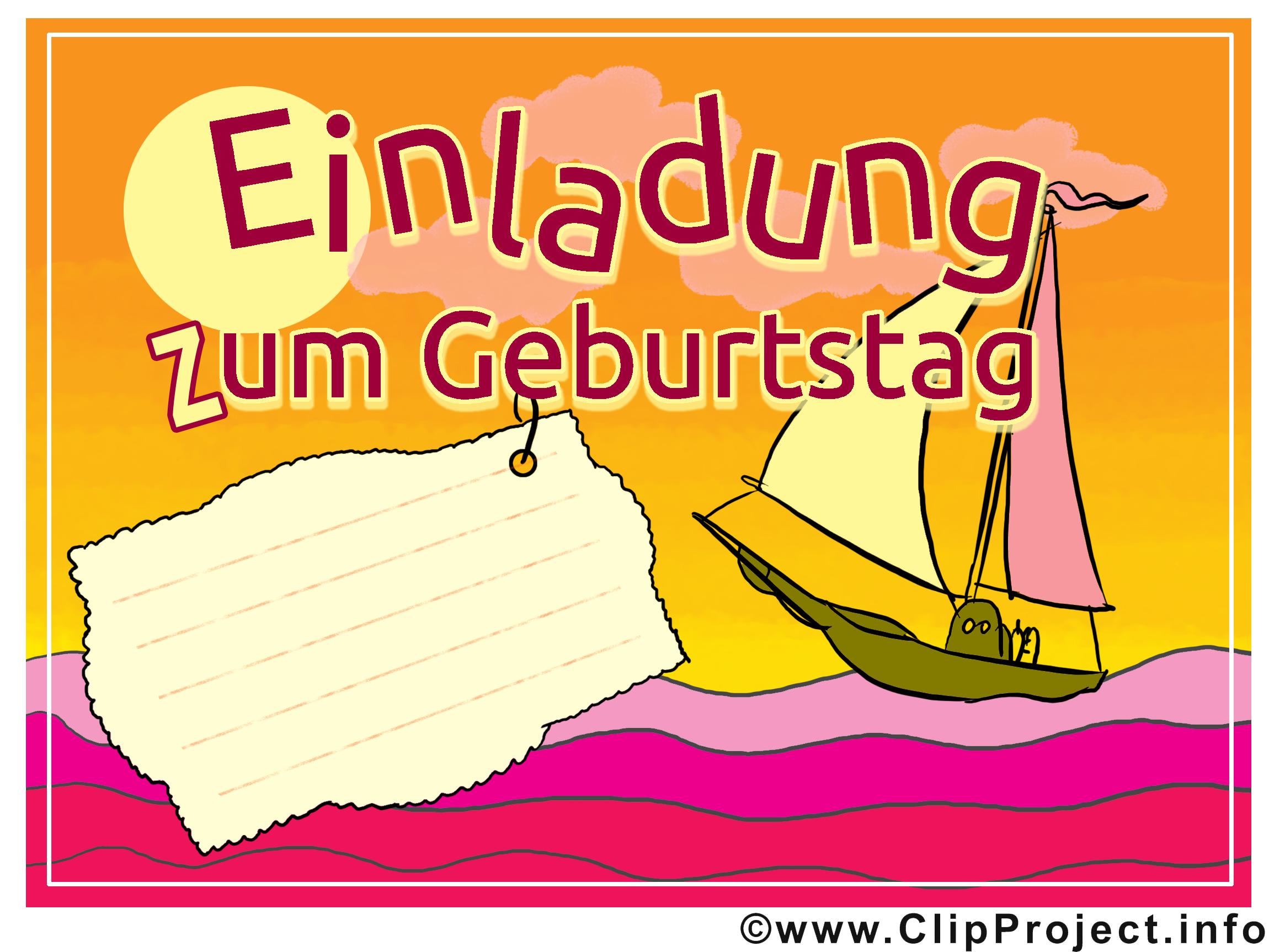 Navire dessins gratuits - Invitation clipart