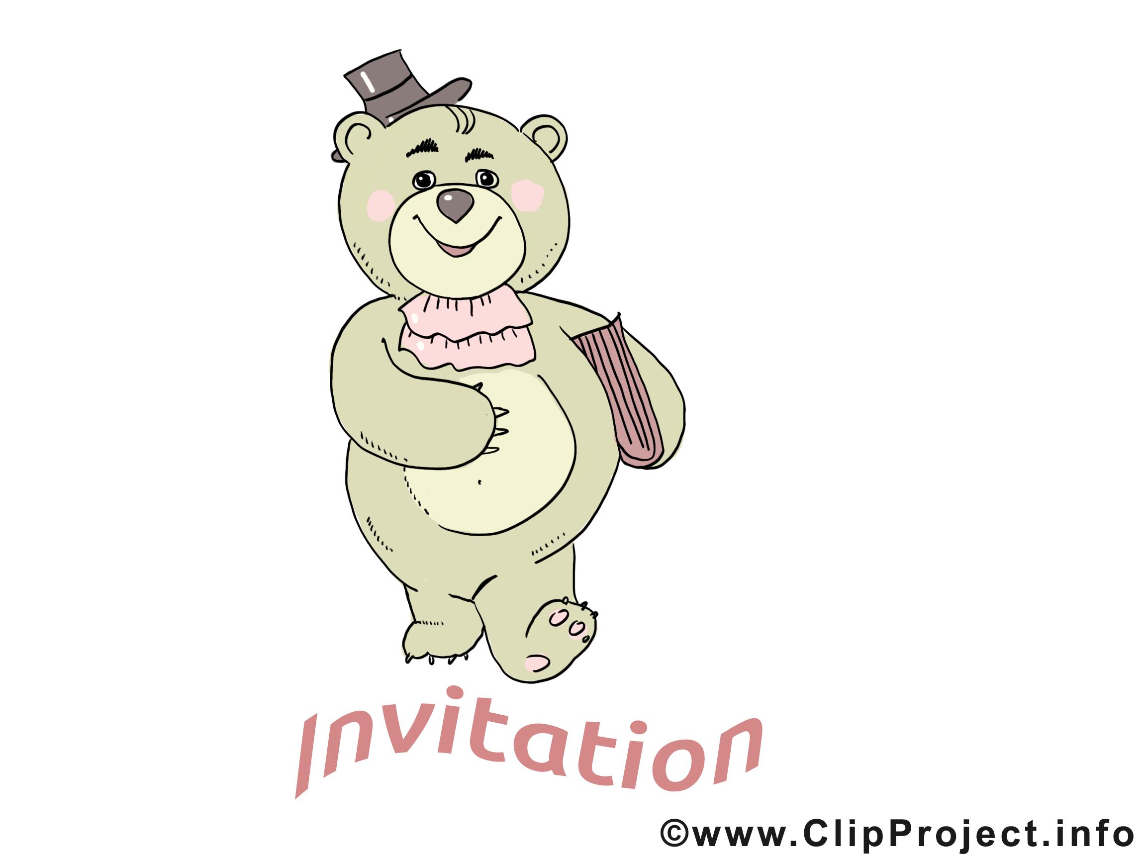 Ours clipart - Invitation dessins gratuits