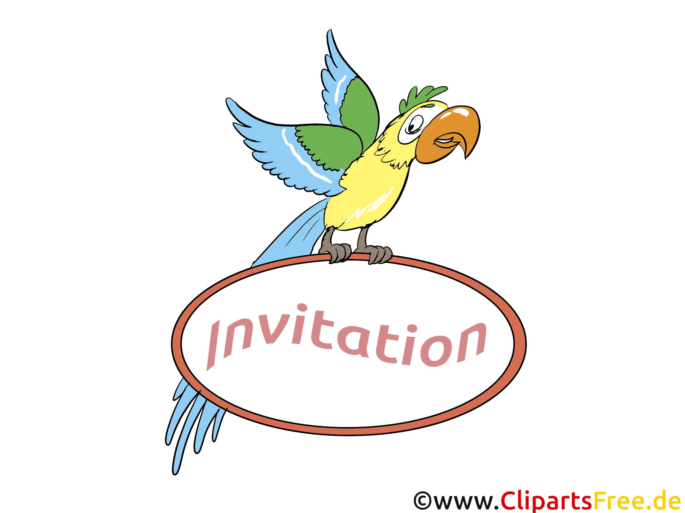 Perroquet dessins gratuits - Invitation clipart