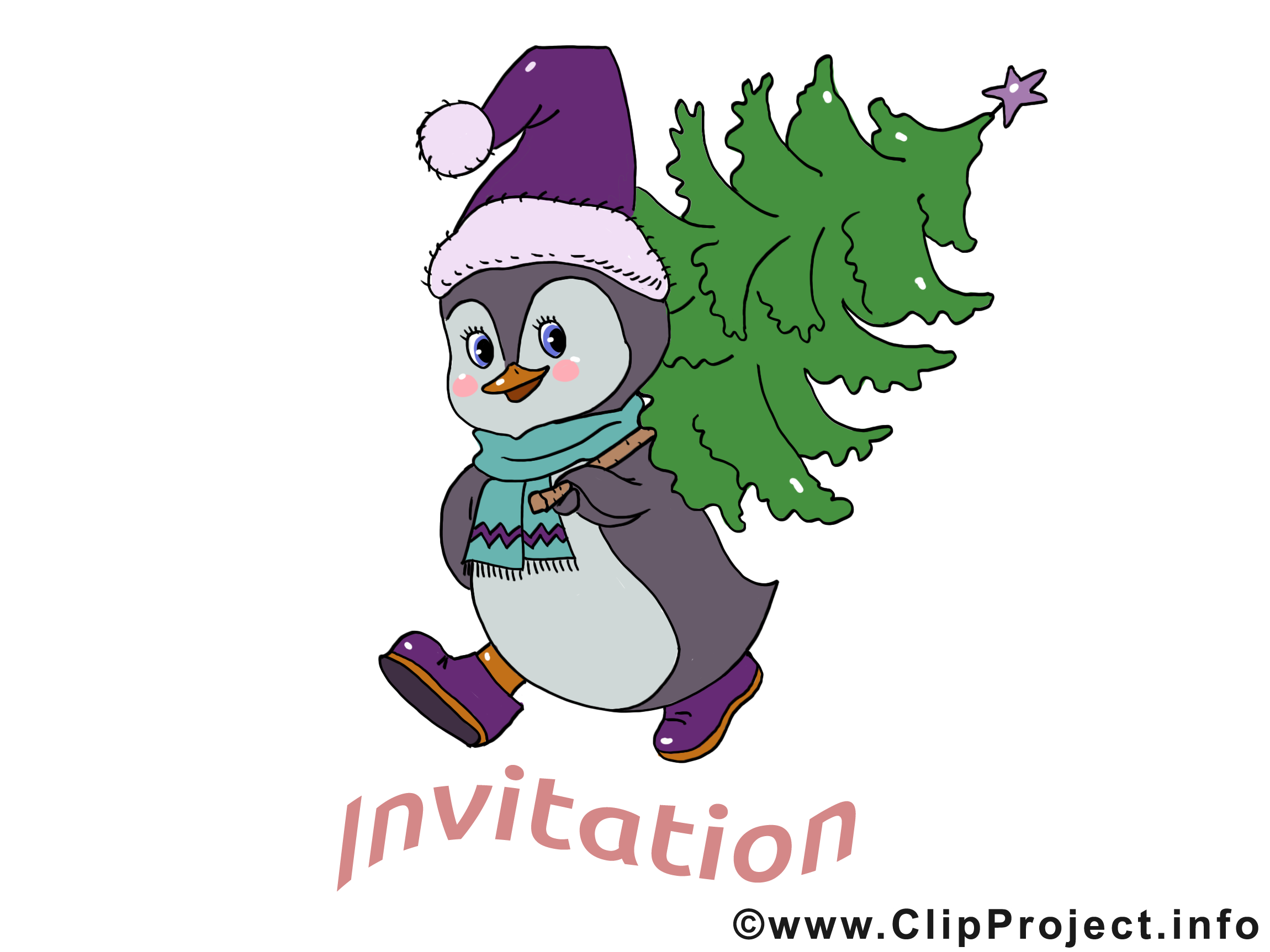 Pingouin dessins gratuits - Invitation clipart