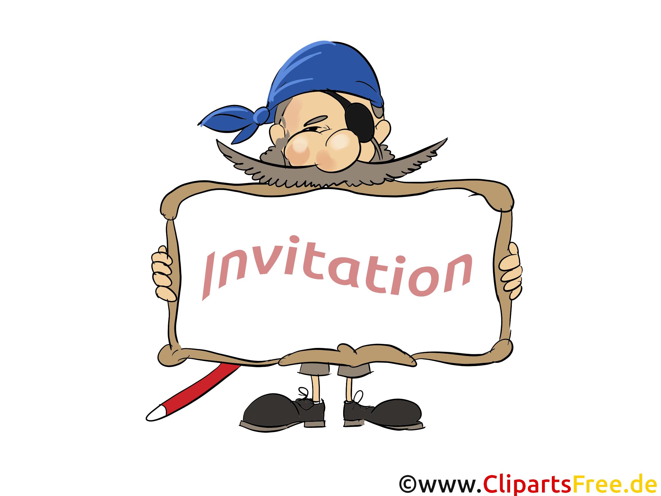 Pirate image gratuite - Invitation cliparts
