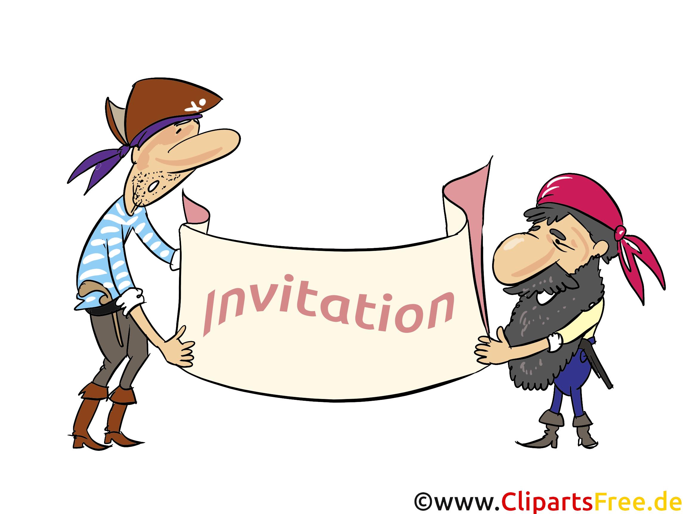 Pirates clip art gratuit - Invitation dessin