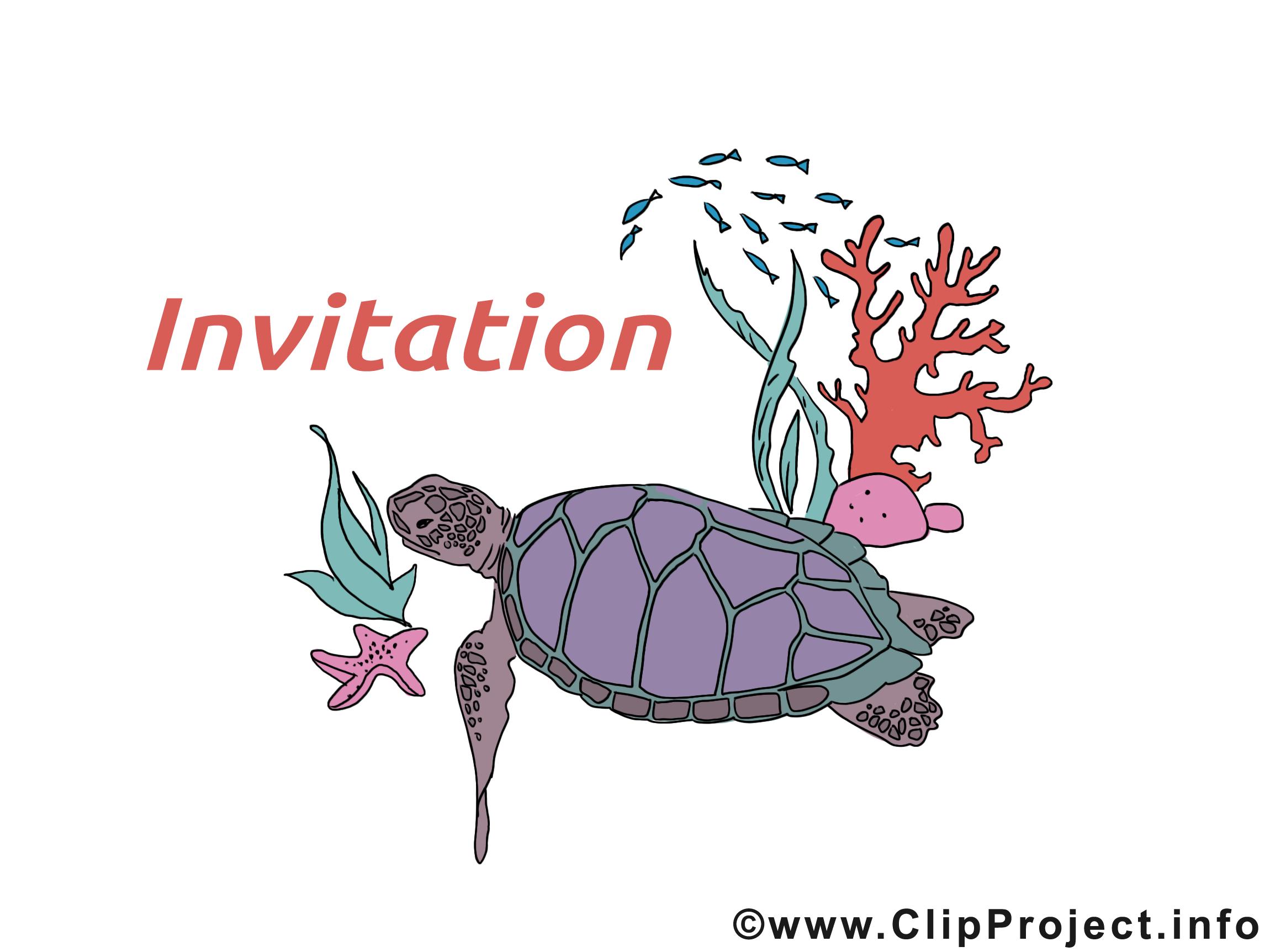Tortue clip art – Invitation gratuite