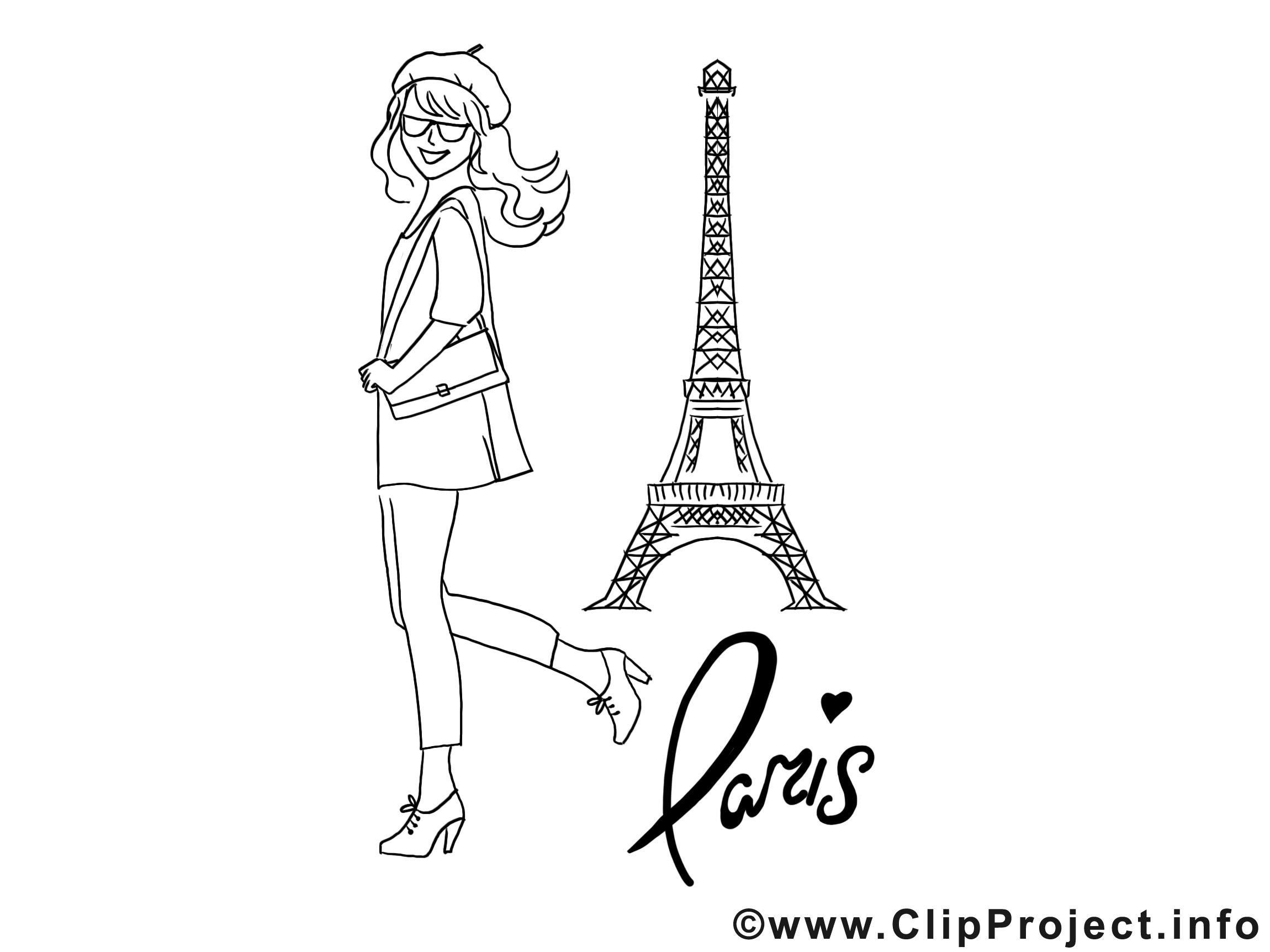 Tour Eiffel images à colorier - Invitation dessins gratuits