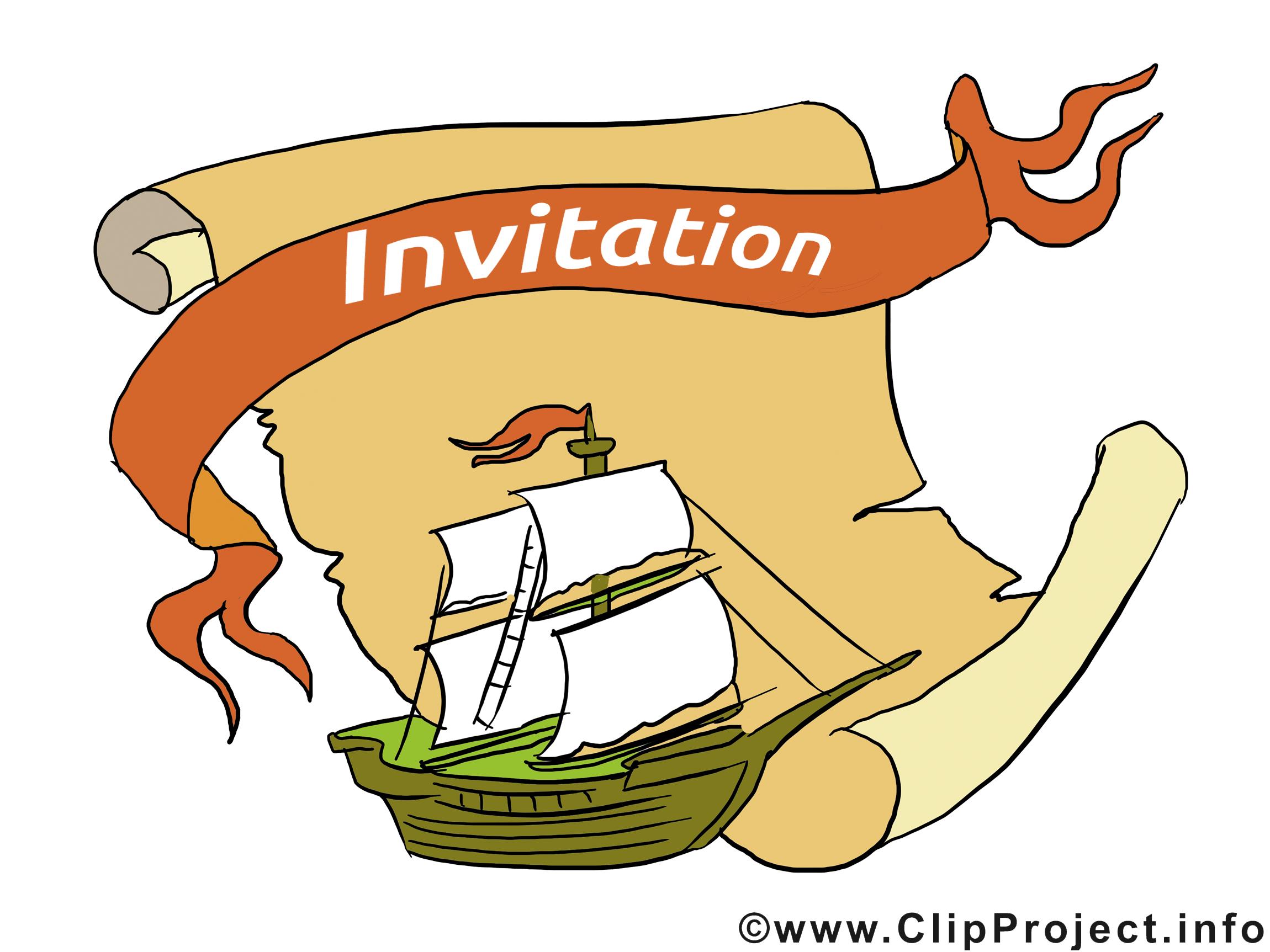 Vaisseau dessin à télécharger - Invitation images