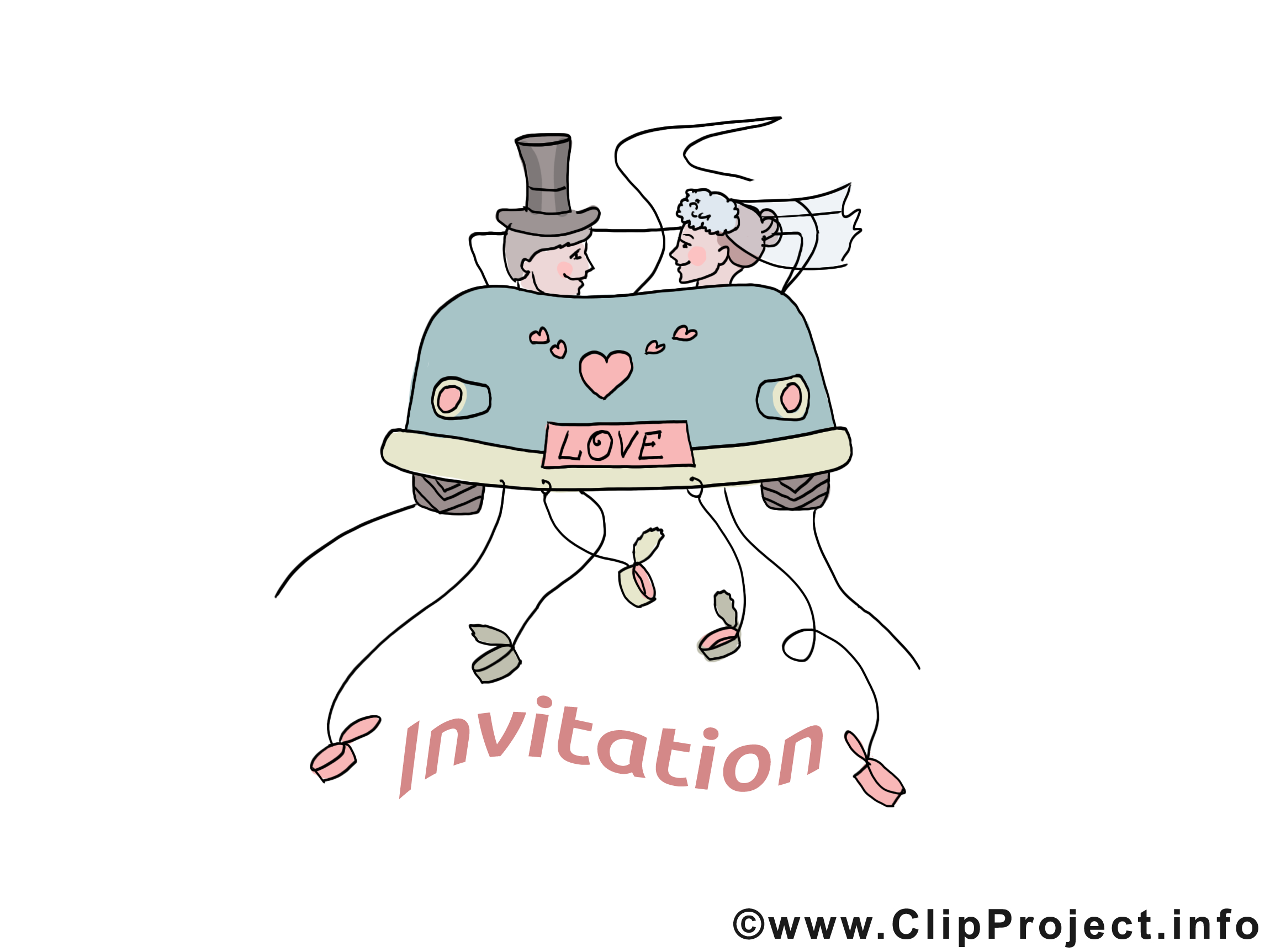 Voiture image - Invitation images cliparts