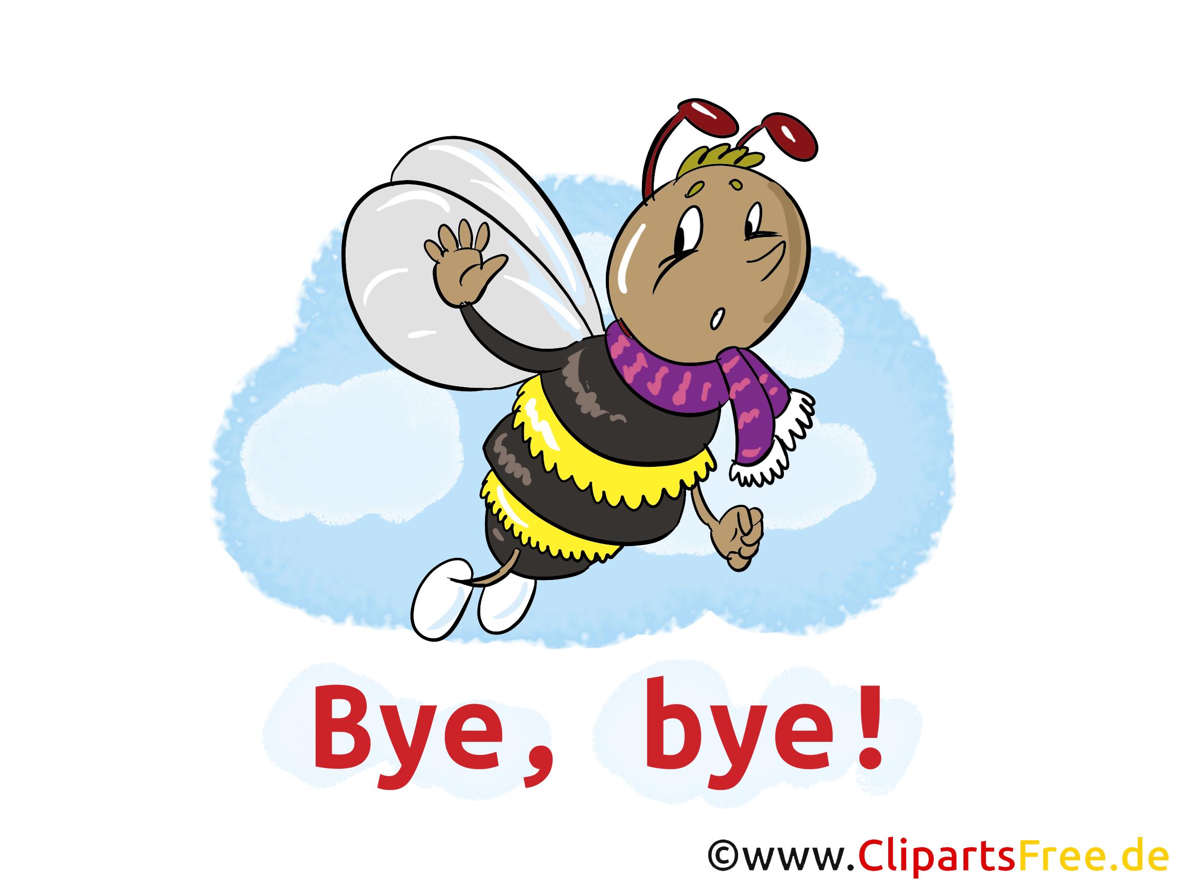 Abeille image gratuite – Adieu clipart