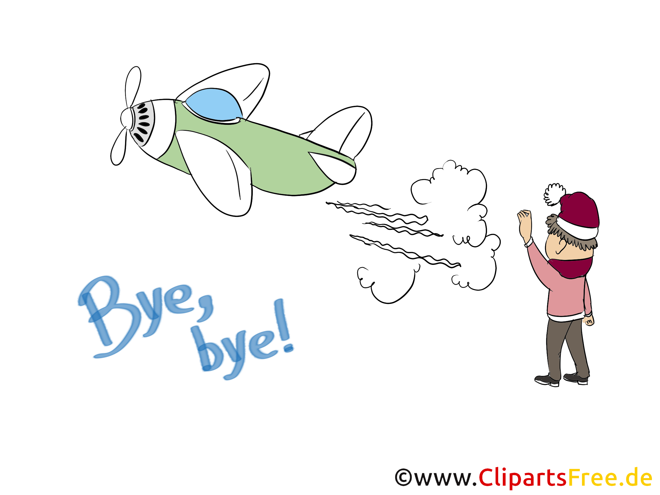Avion clipart - Adieu dessins gratuits