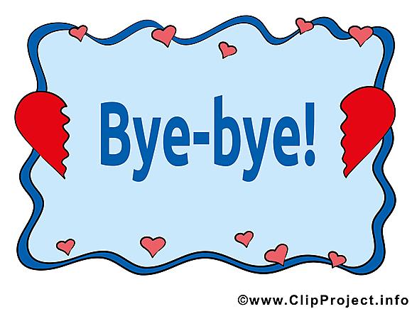 Coeur brisé illustration gratuite - Adieu clipart