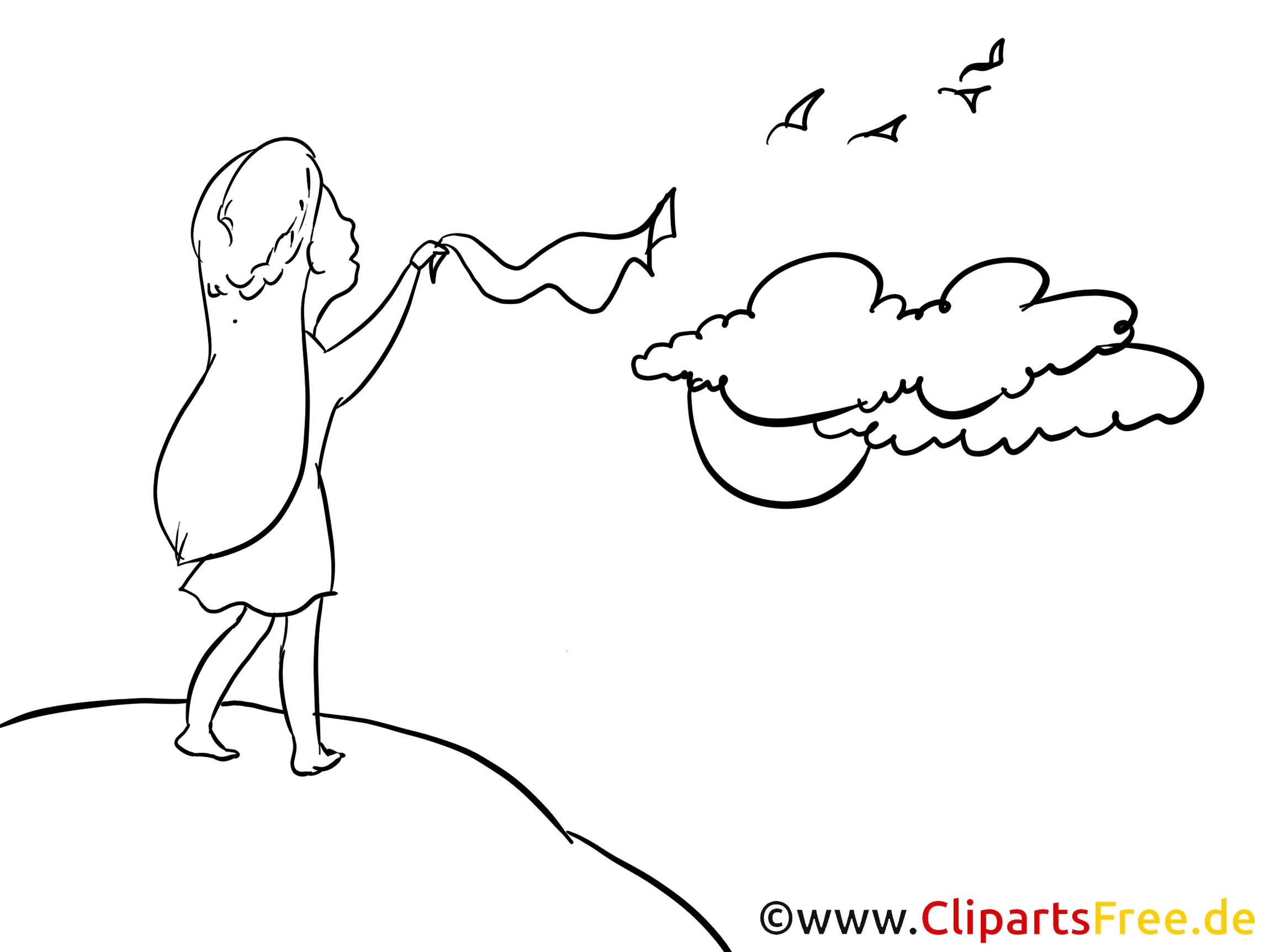 Femme adieu illustration à colorier gratuite