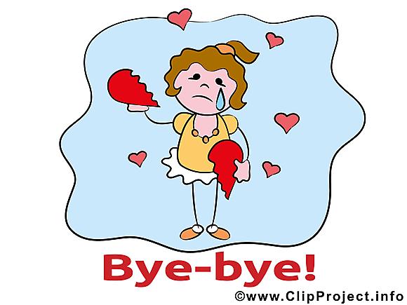 Fille coeur brisé clipart - Adieu dessins gratuits