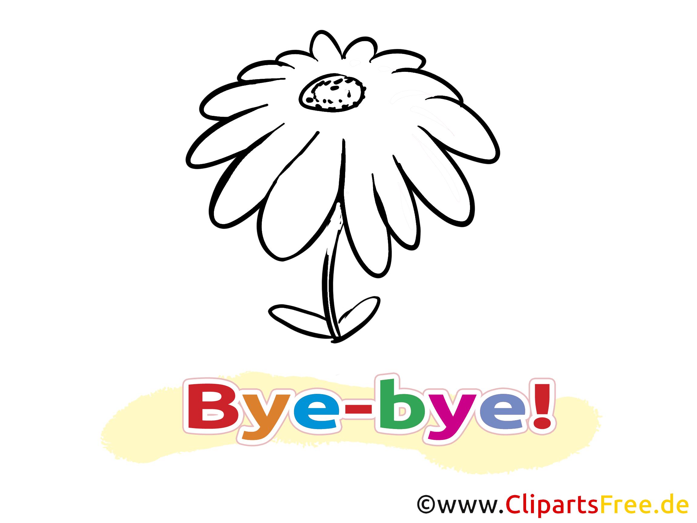 Fleur images à imrpimer – Adieu clipart