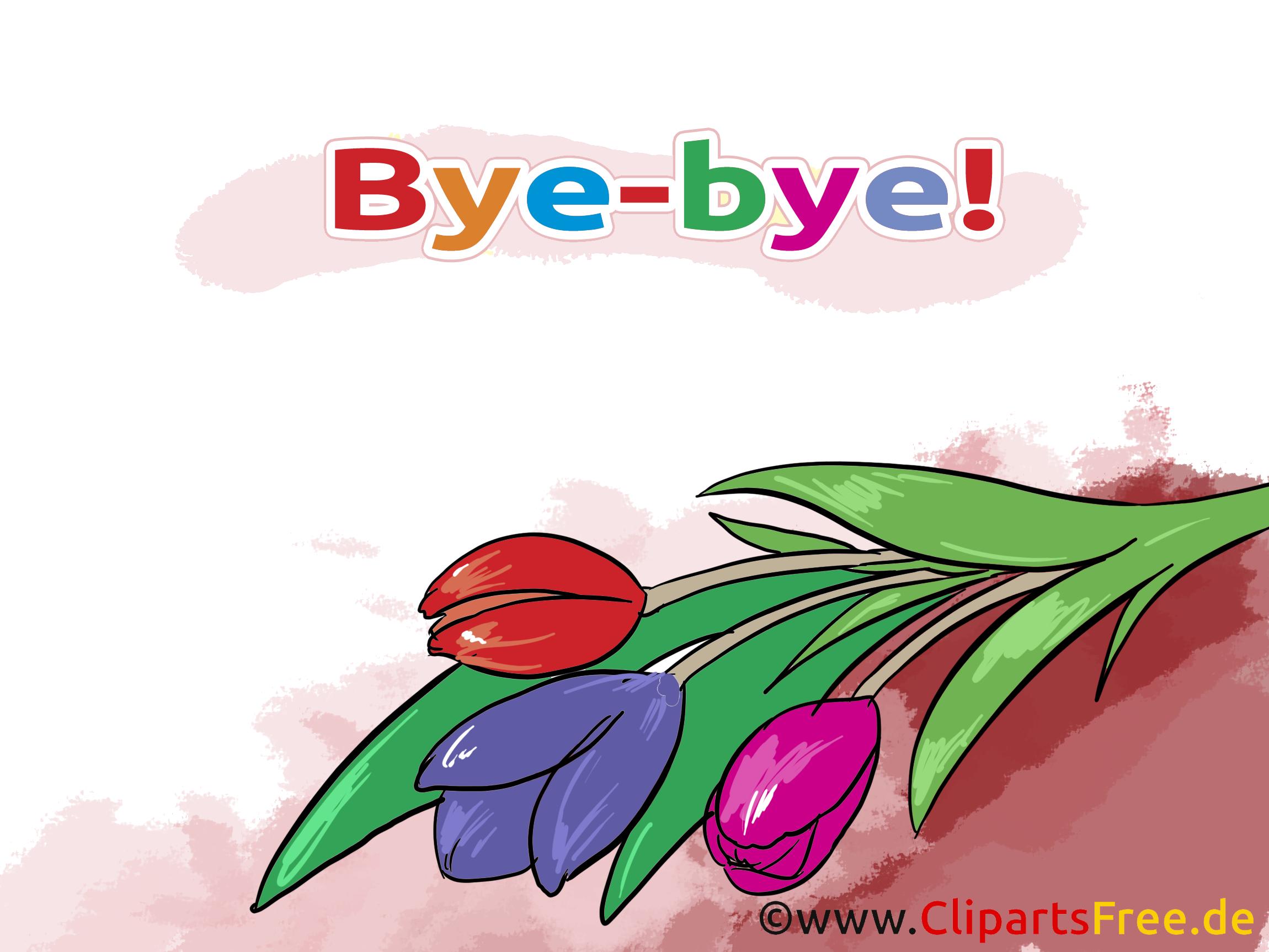 Fleurs adieu illustration à télécharger gratuite