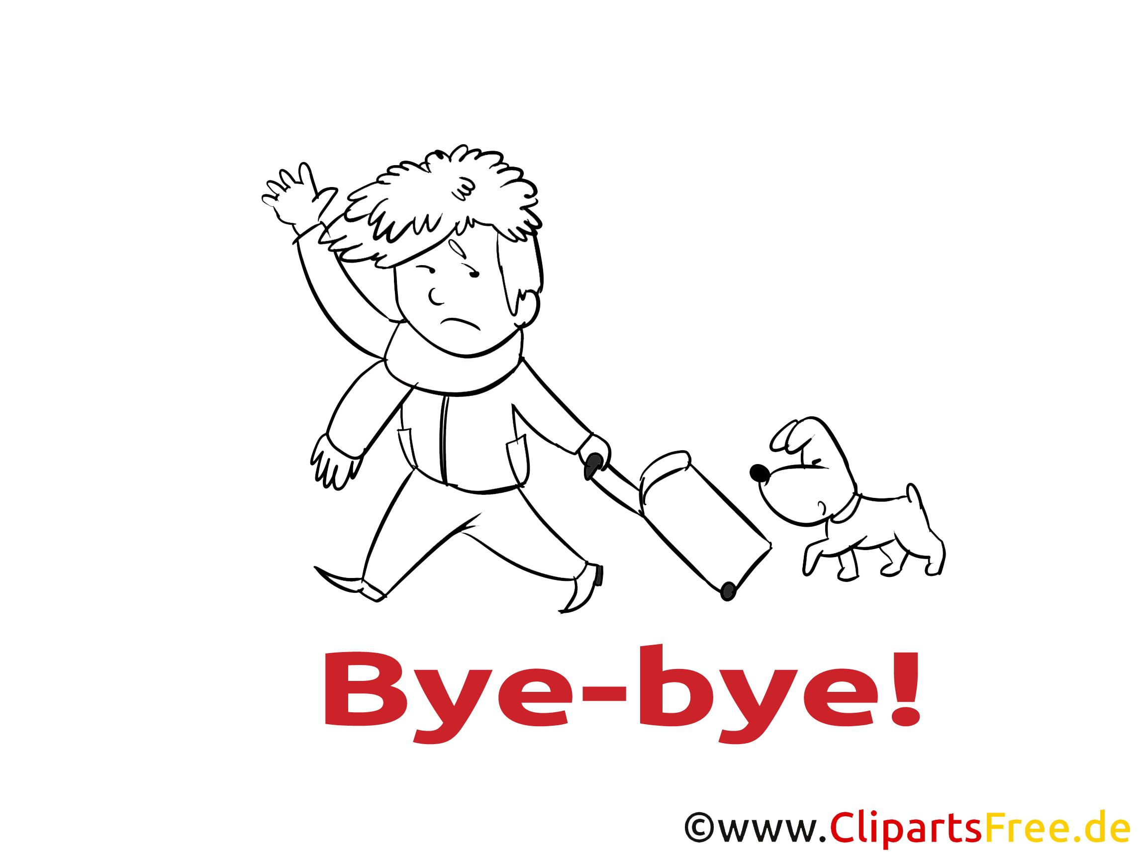 Homme chien coloriage image à télécharger - Adieu clipart