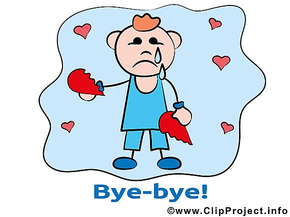 Homme coeur brisé dessins gratuits - Adieu clipart