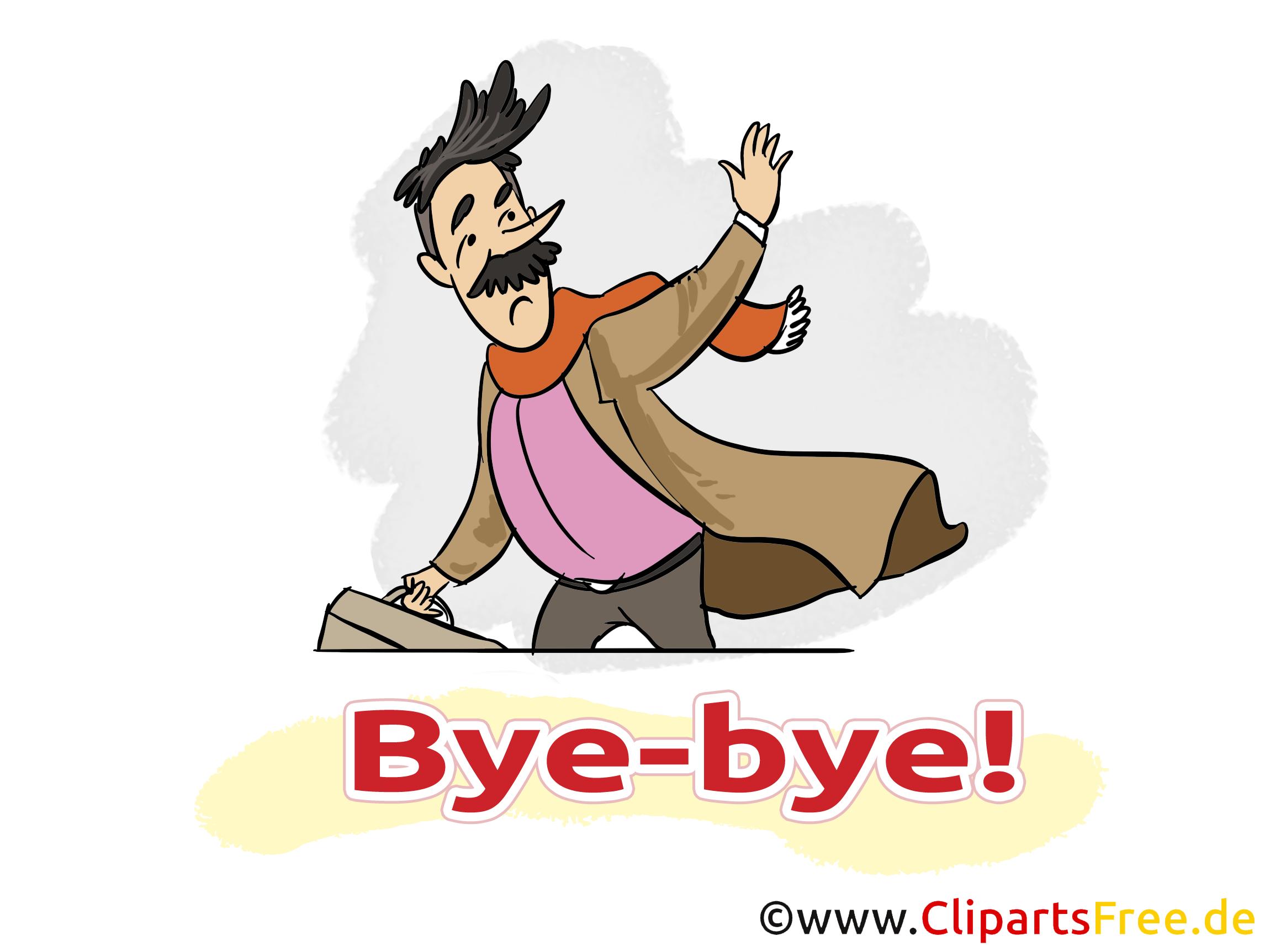 Homme image gratuite - Adieu illustration