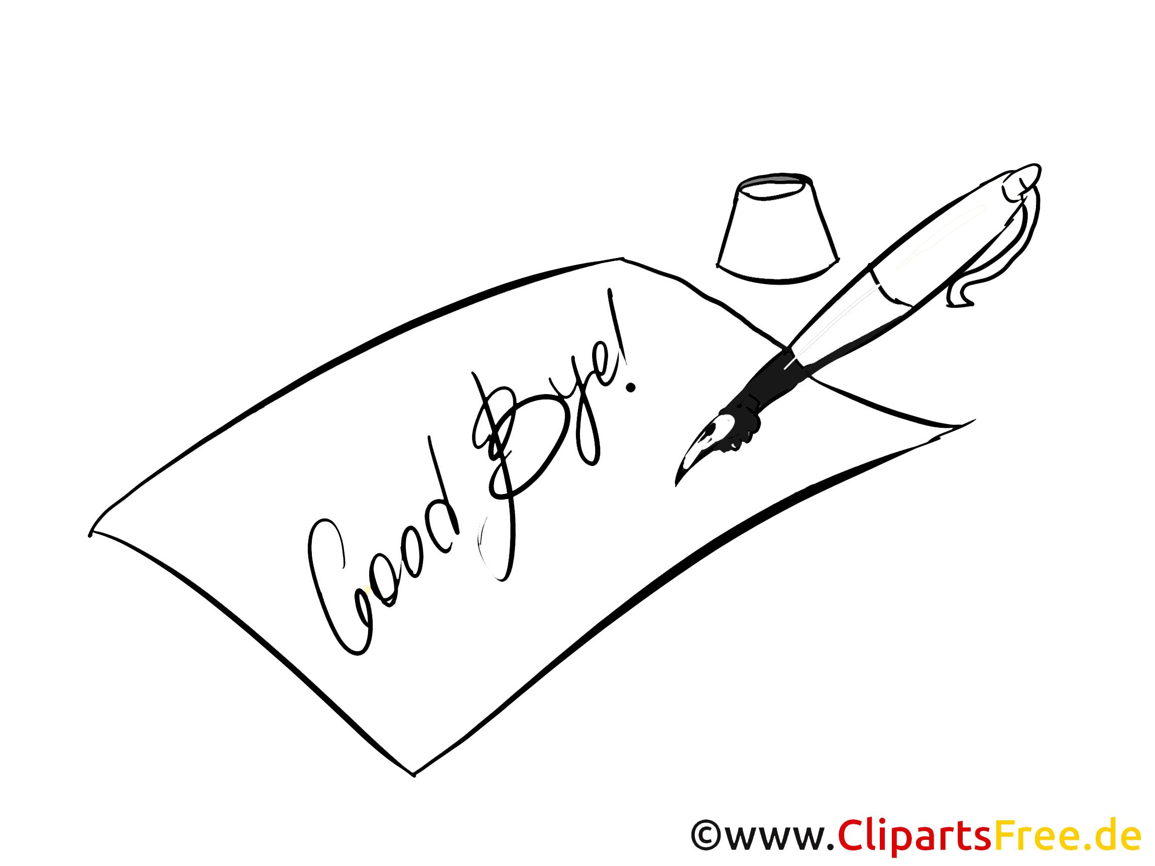 Lettre illustration à colorier - Adieu images