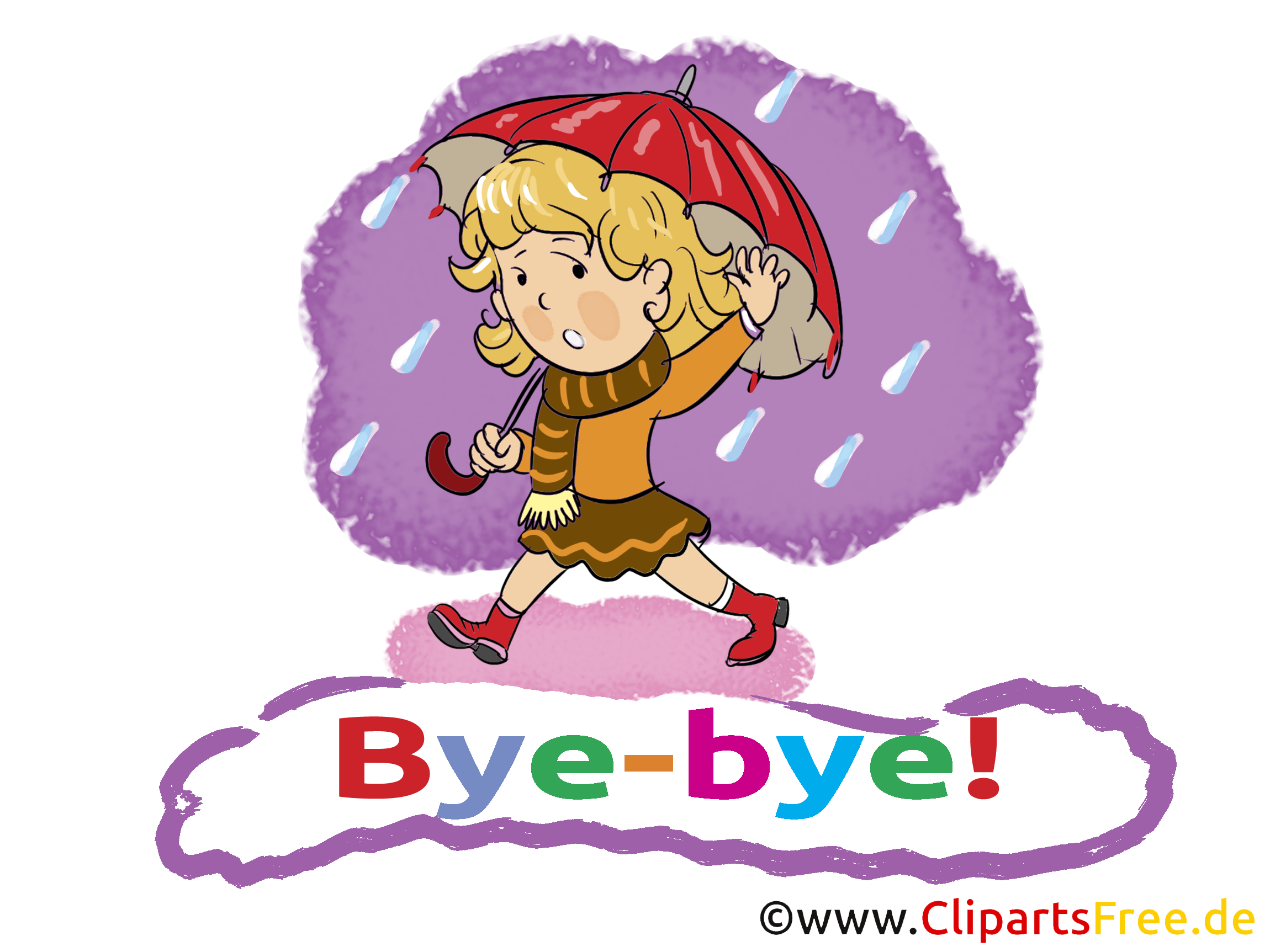 Pluie dessin - Adieu clip arts gratuits