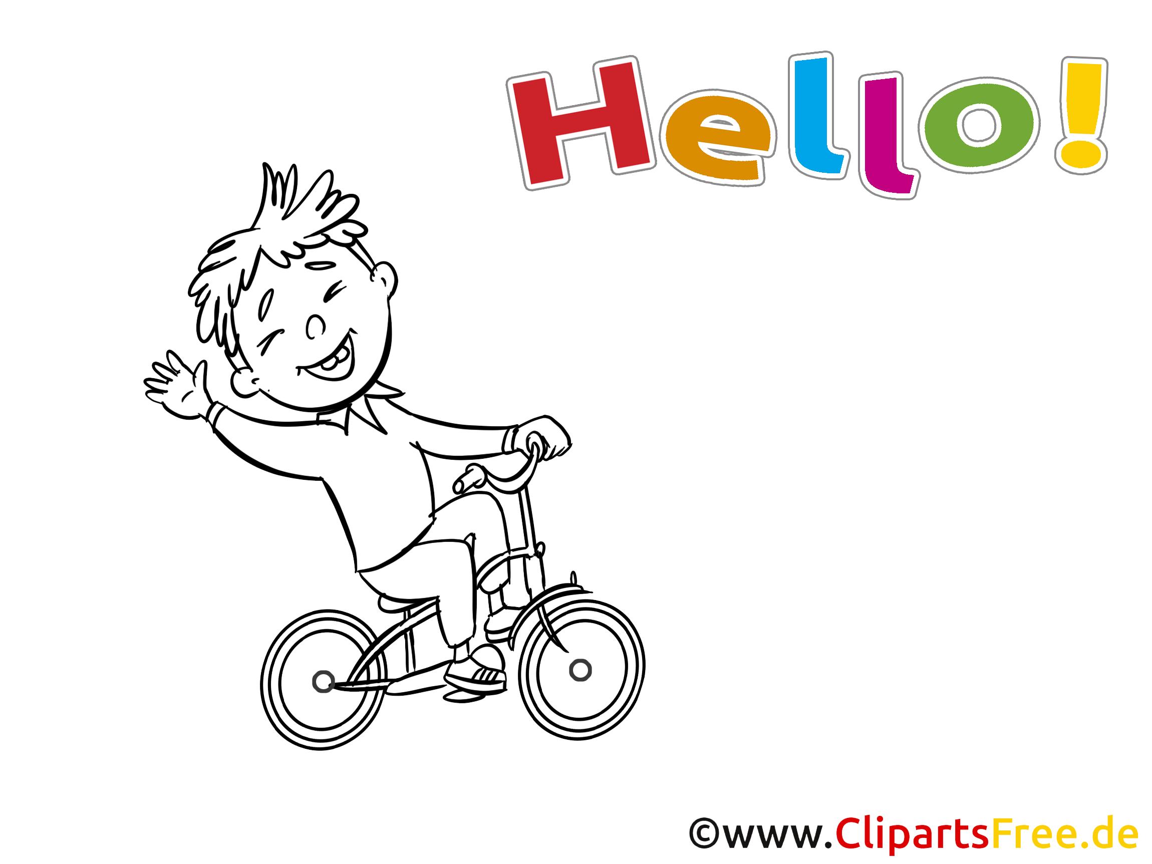 Bicyclette dessin à colorier - Salut cliparts à télécharger