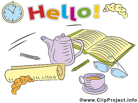 Bonjour clip art gratuit images