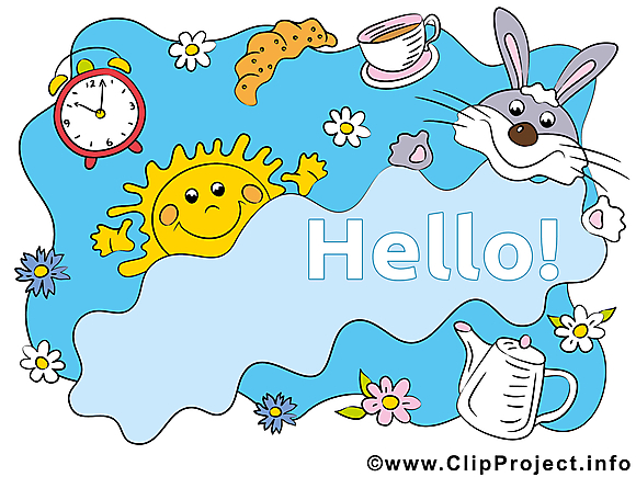 Bonjour clip arts gratuits illustrations