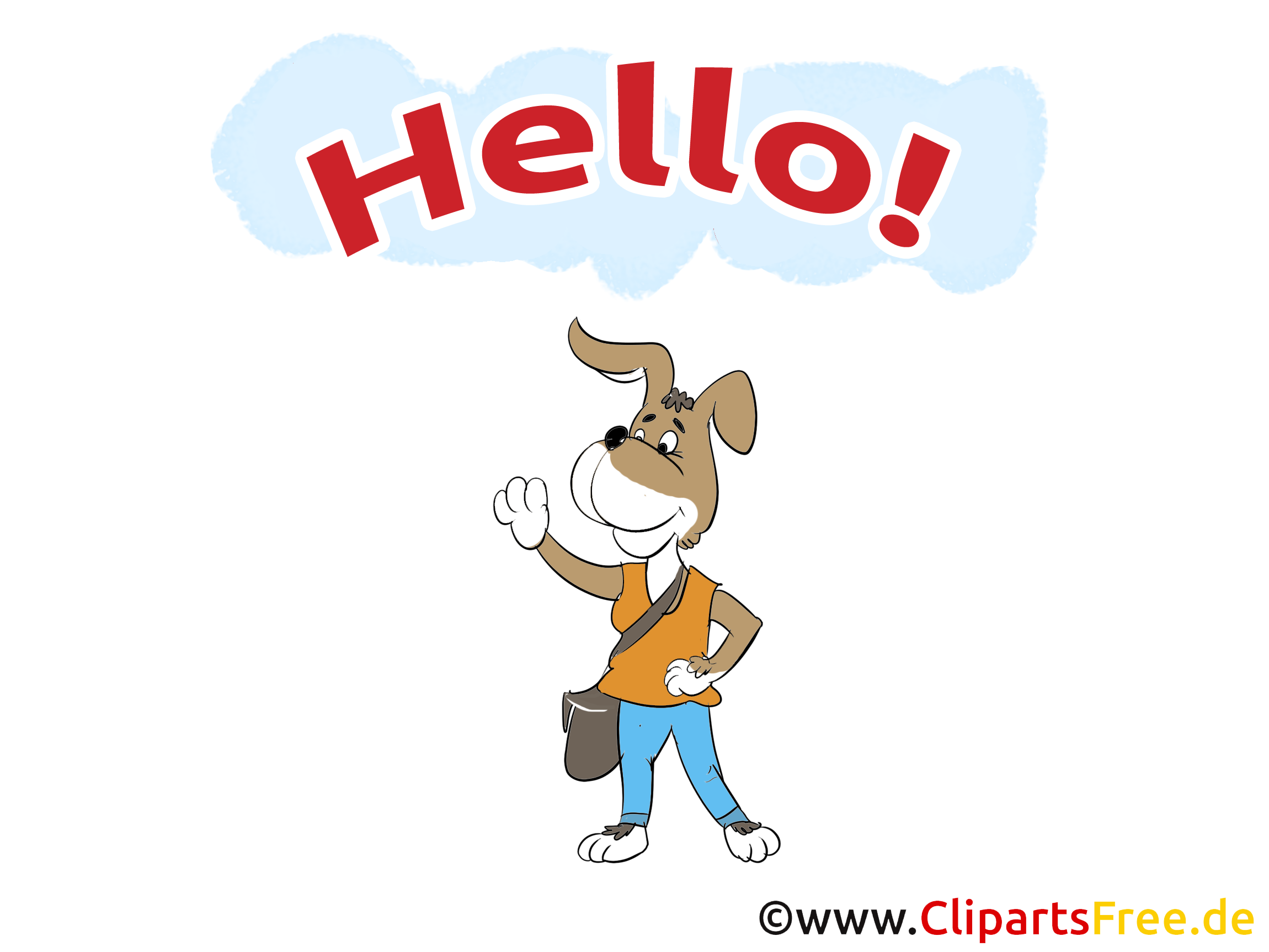 Chien clipart - Salut dessins gratuits