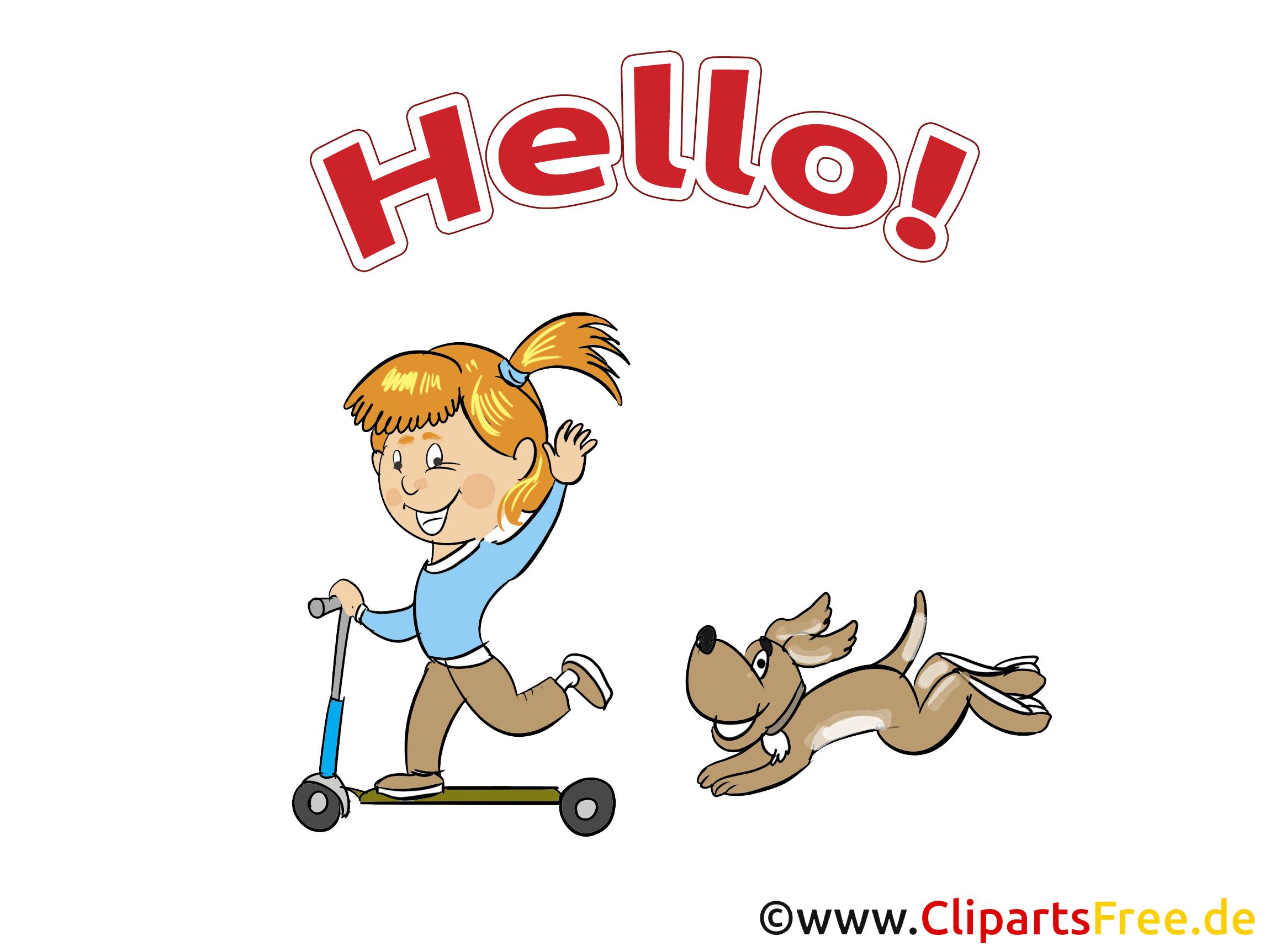 Chien patinette image gratuite - Salut cliparts