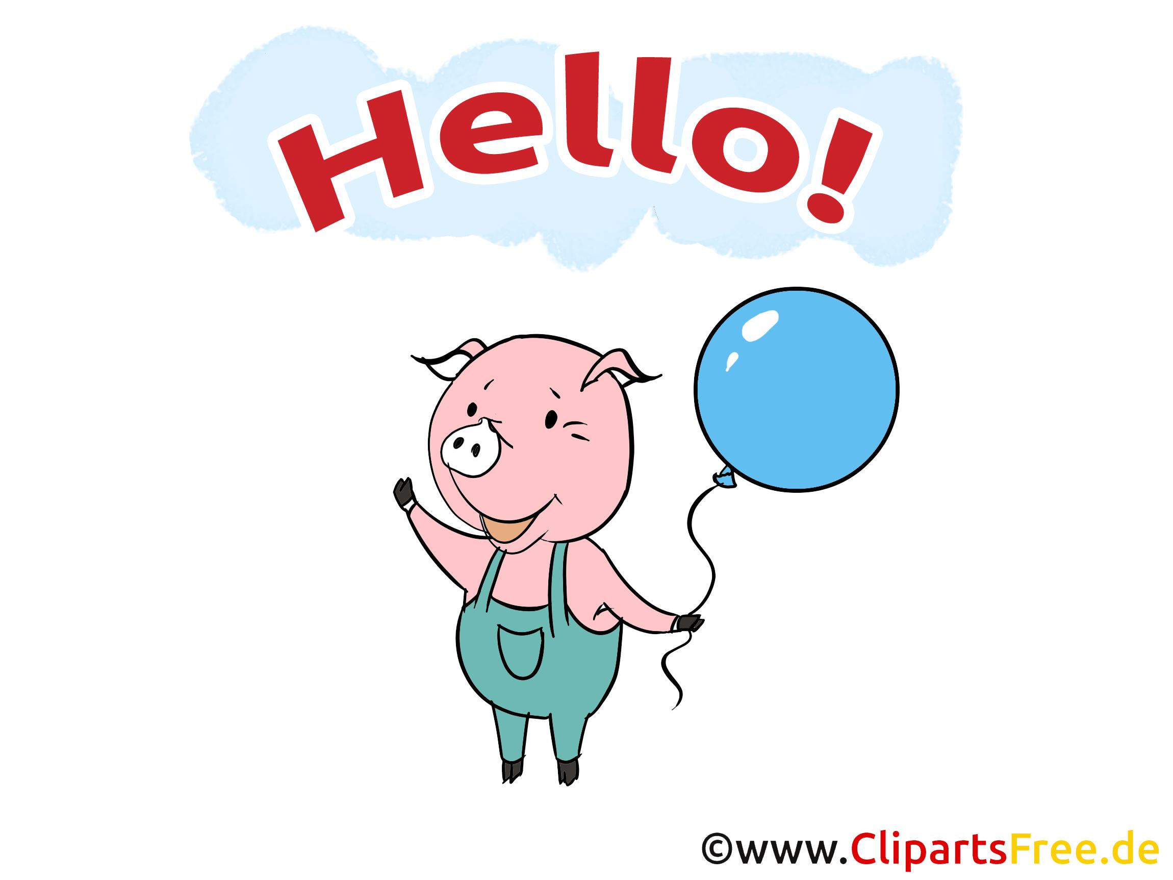 Clip arts gratuits cochon - Salut illustrations