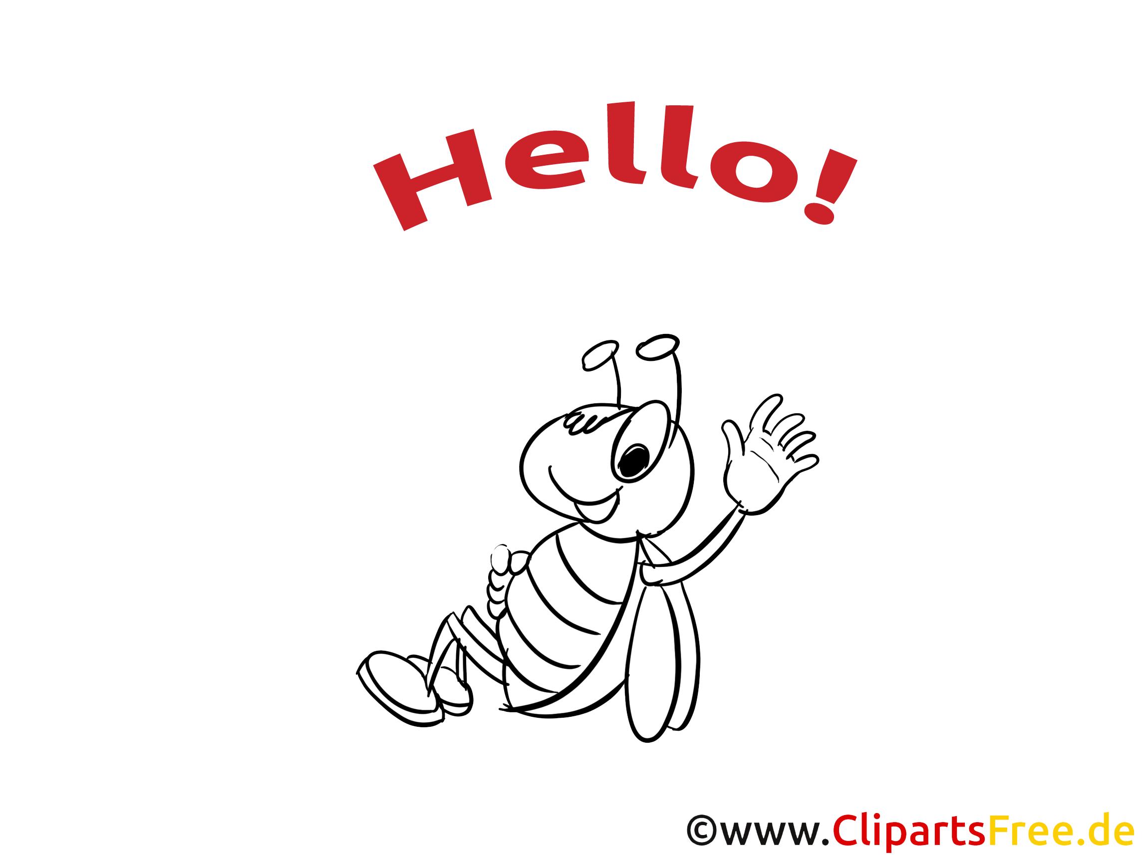 Illustration scarabée à colorier - Salut images