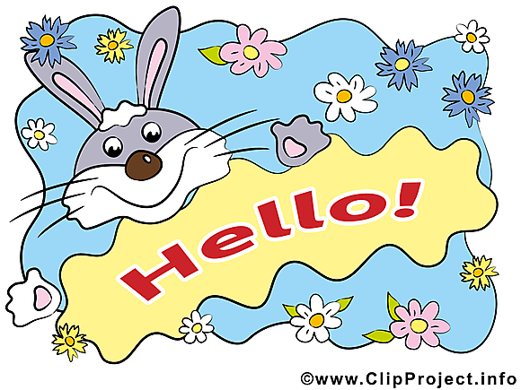 Lapin image - Bonjour images cliparts