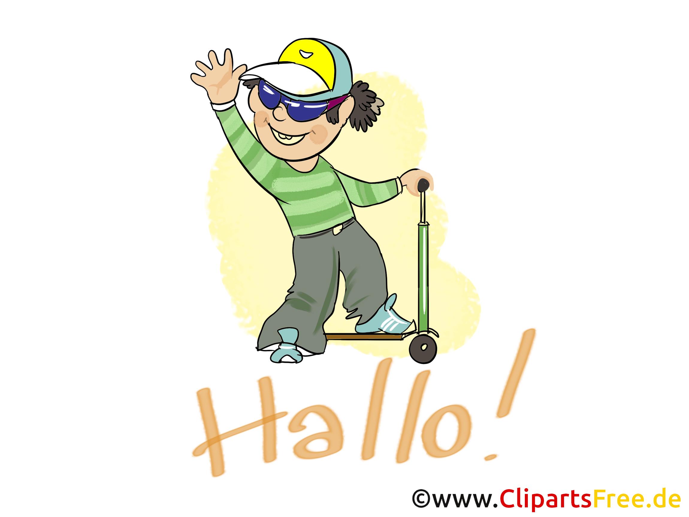 Patinette image gratuite – Salut clipart