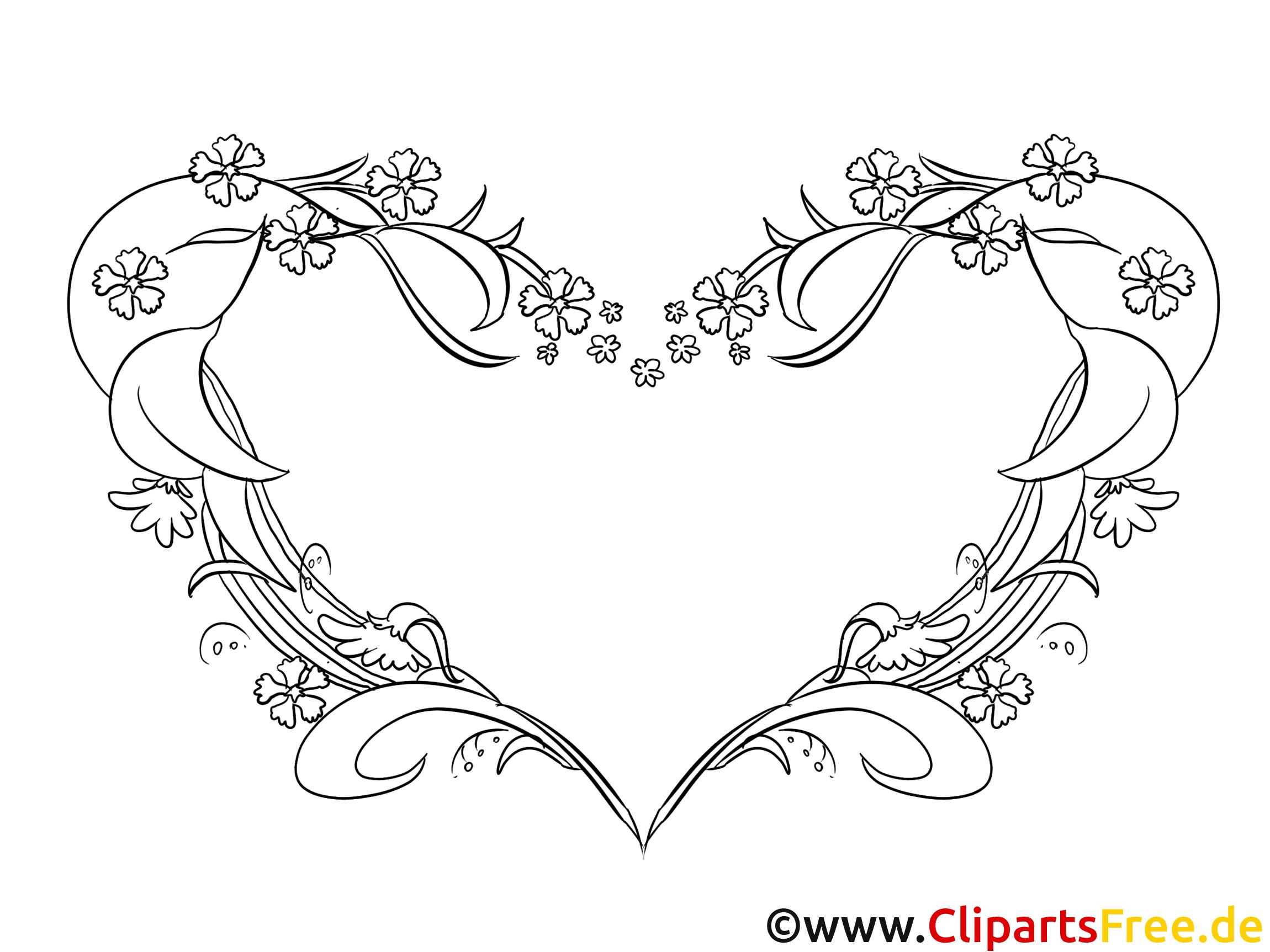 Coloriage coeur mariage gratuit - Image de coeur gratuit ...
