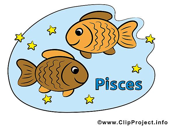 Poissons illustration gratuite - Signe clipart