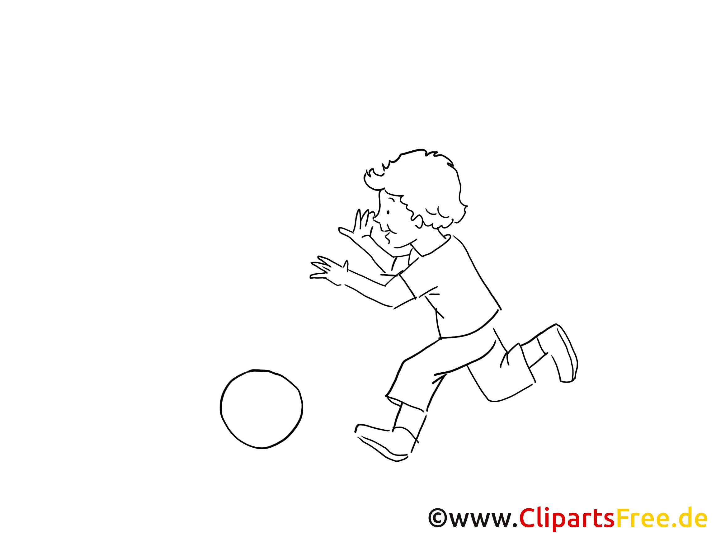 Dessin jouer a la balle - Loisir clip arts gratuits