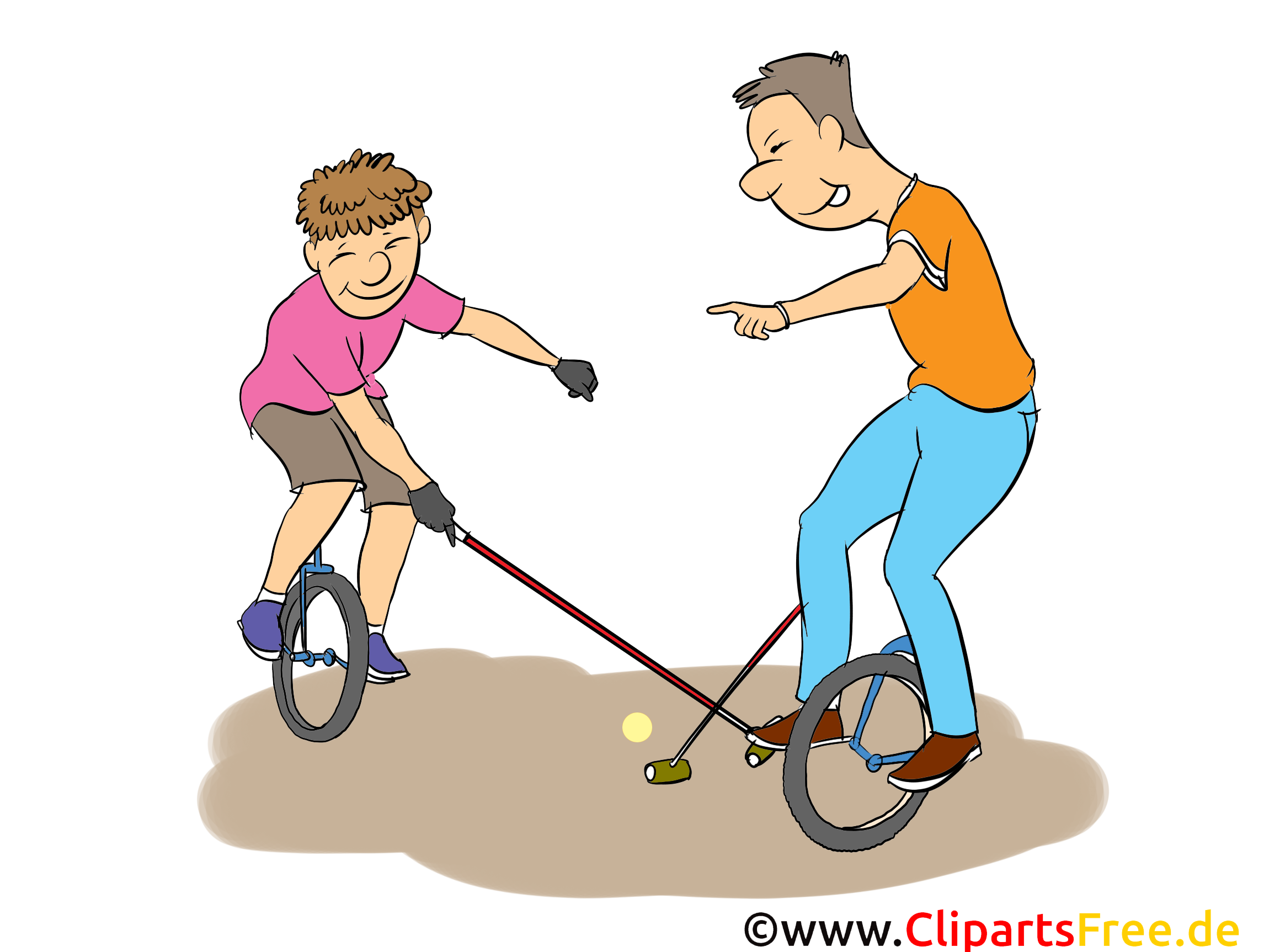 Monocycle illustration gratuite - Loisir clipart