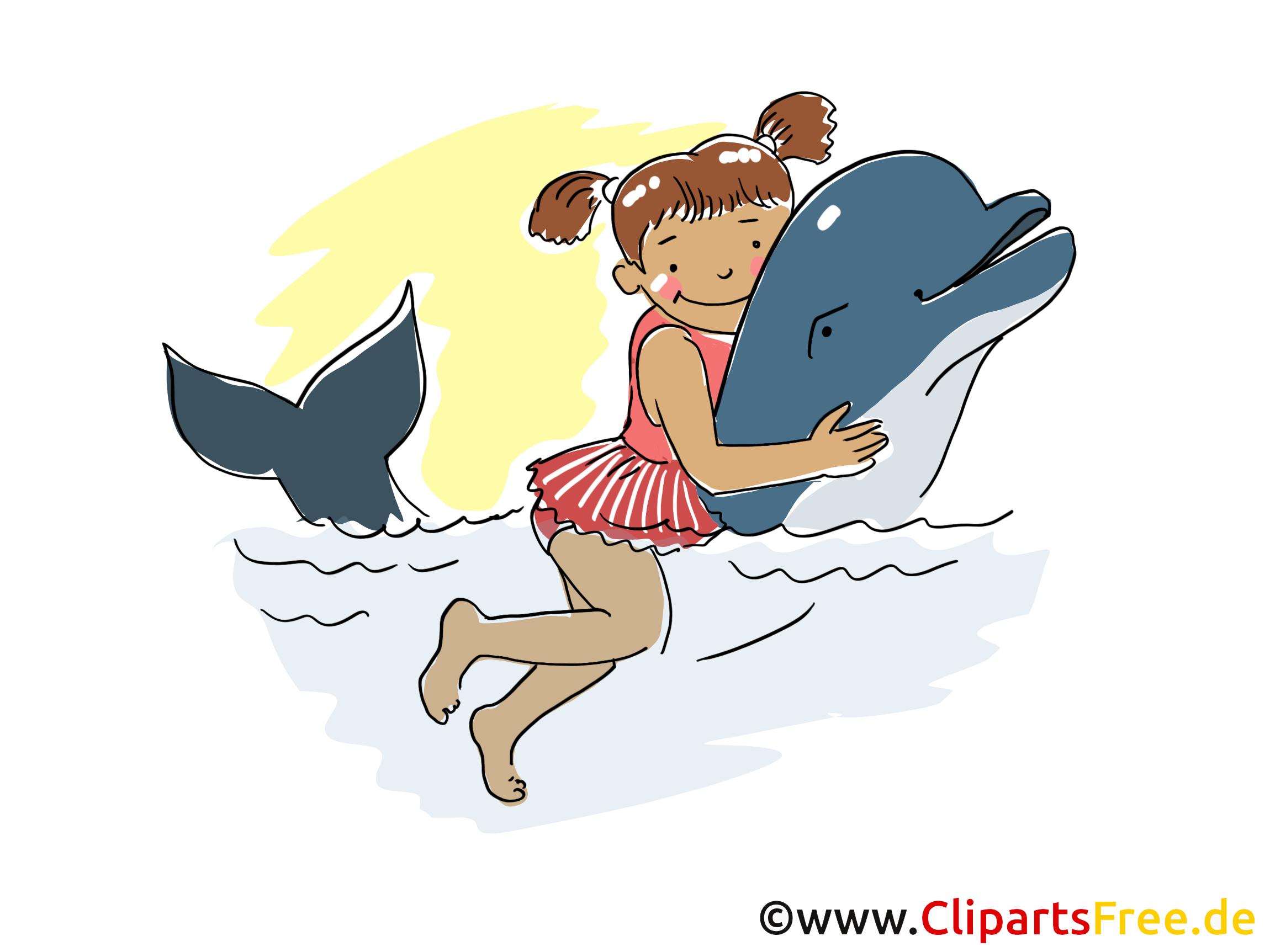 Nage dauphin image gratuite - Loisir illustration