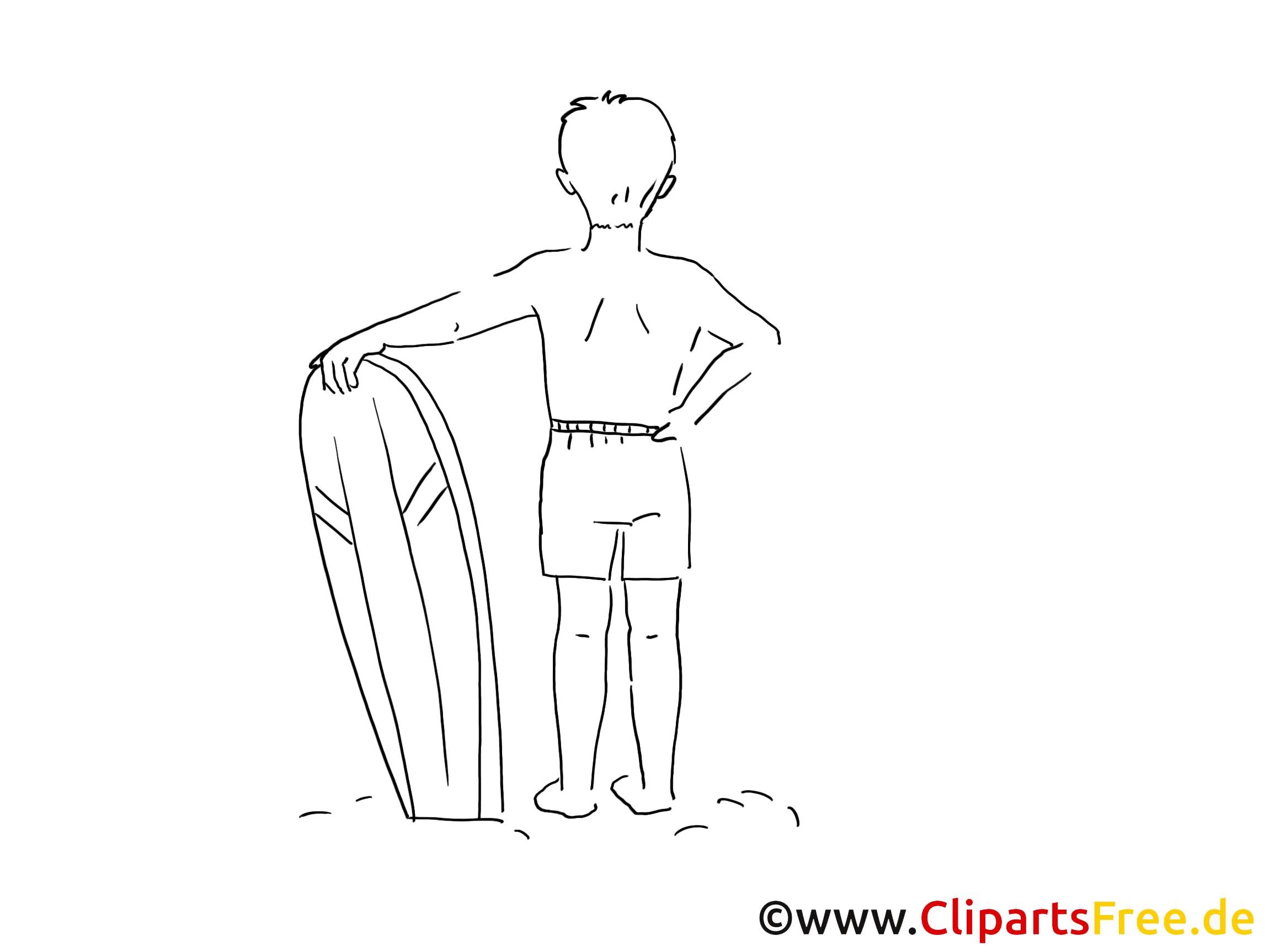 Surfeur images à imprimer – Loisir clipart
