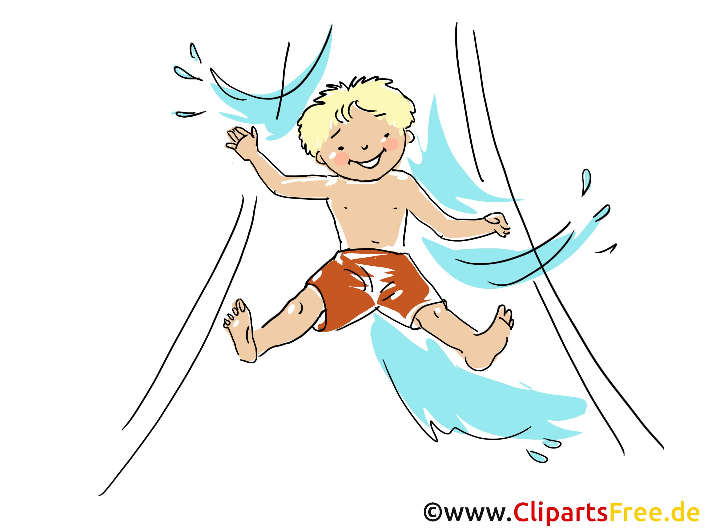 Toboggan aquatique dessin gratuit loisir image loisirs - Dessin de toboggan ...