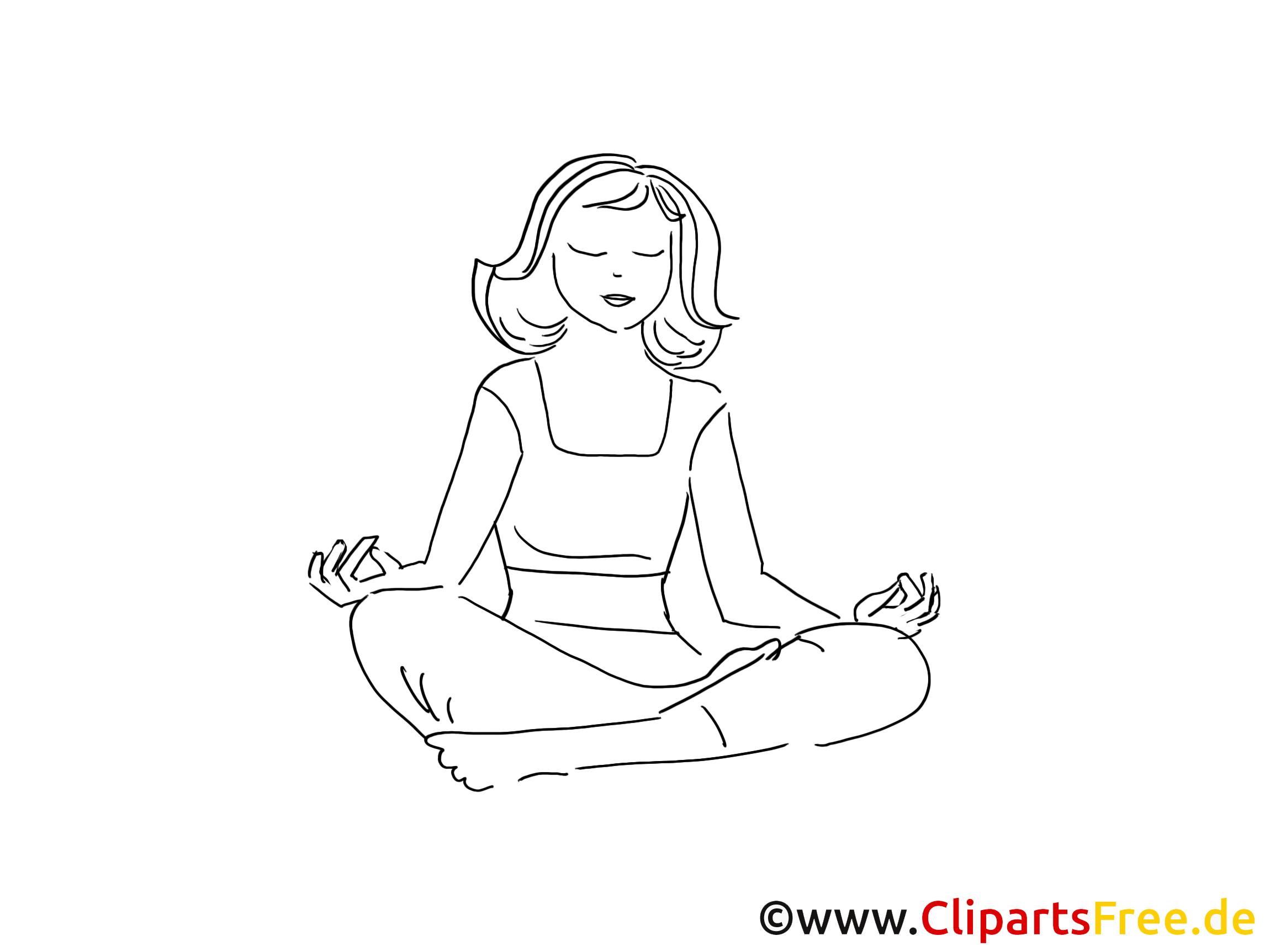 Yoga loisir à colorier gratuite